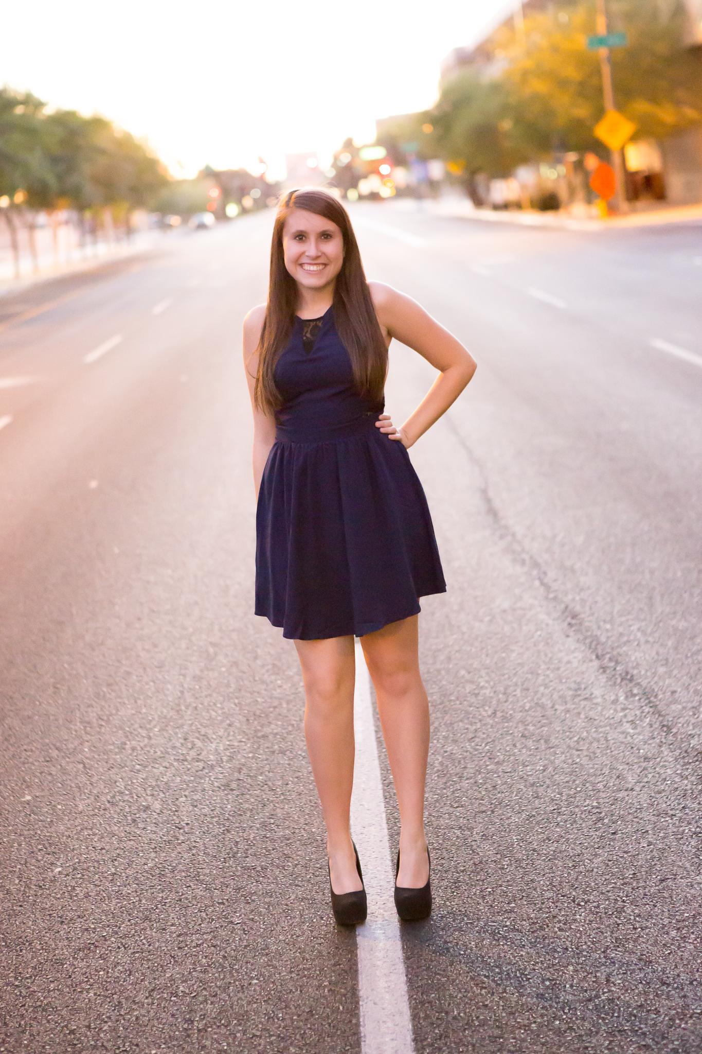 senior-photography-downtown-phoenix-street-dress