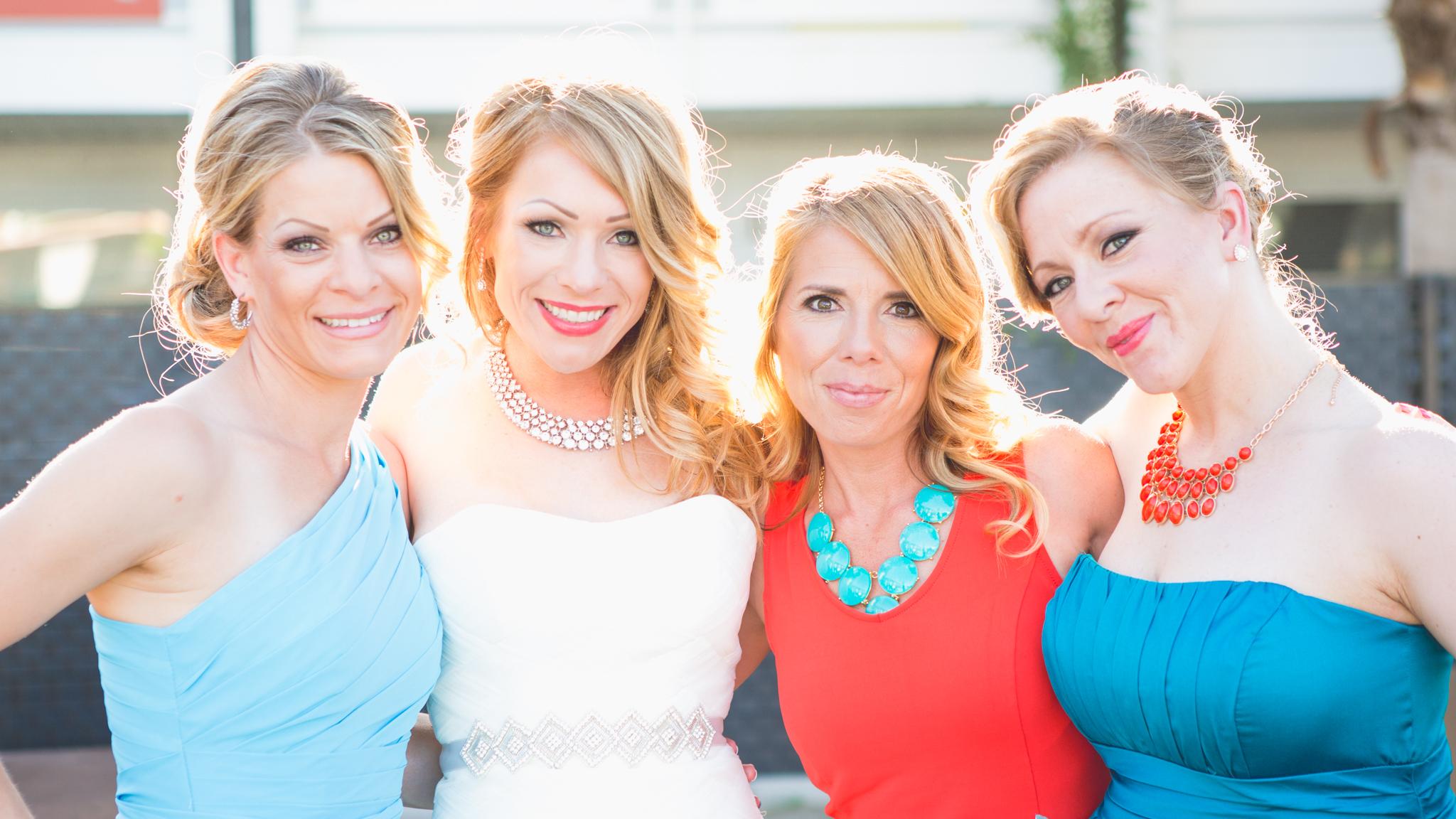 scottsdale-wedding-photographer-el-dorado-bride-sisters-colorful-backlit