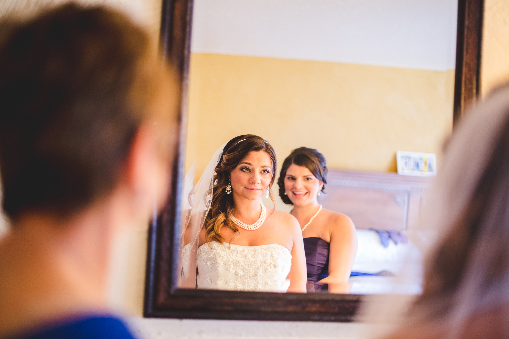 bride takes the moment in