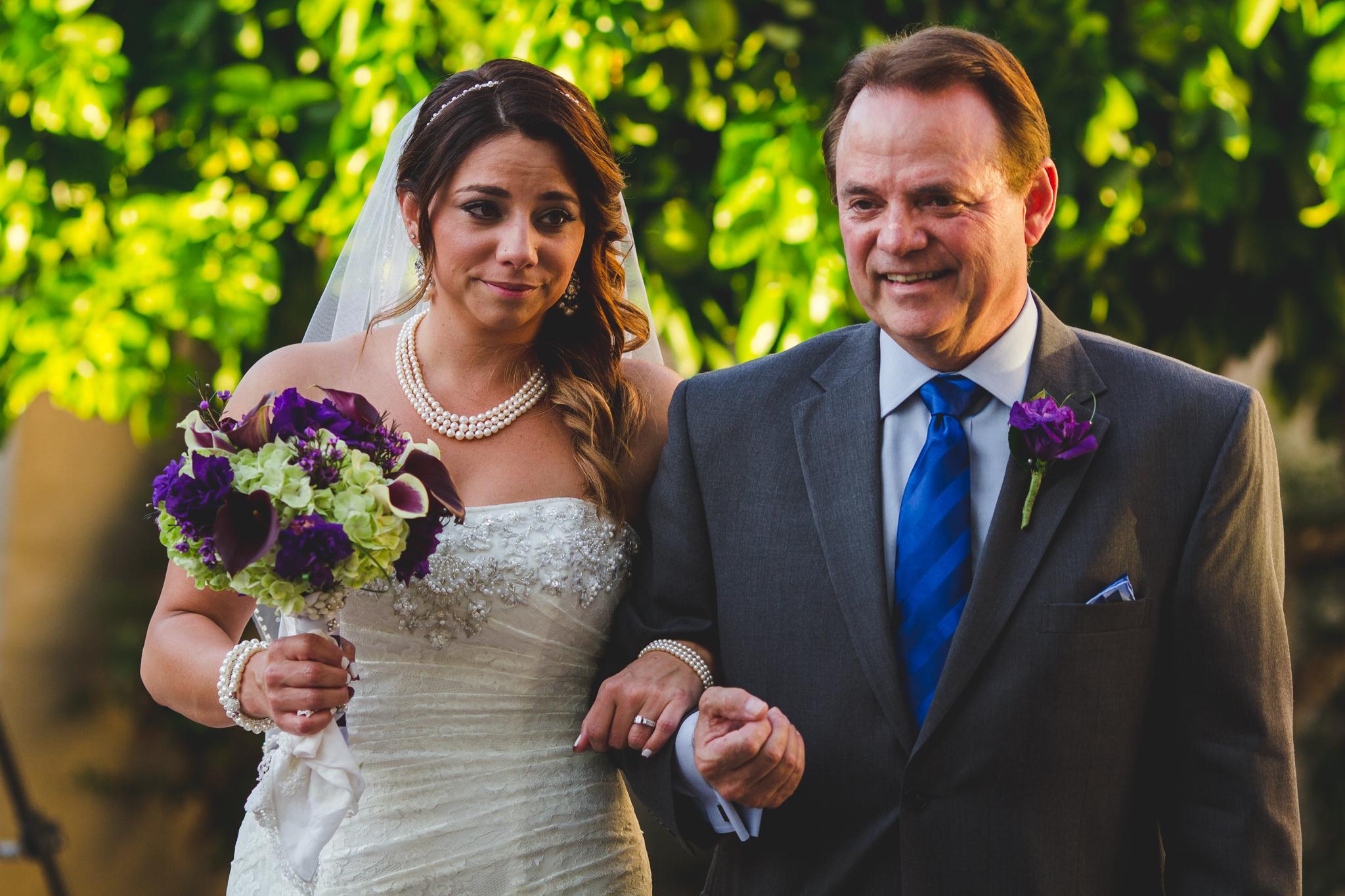 lori bride walks down isle
