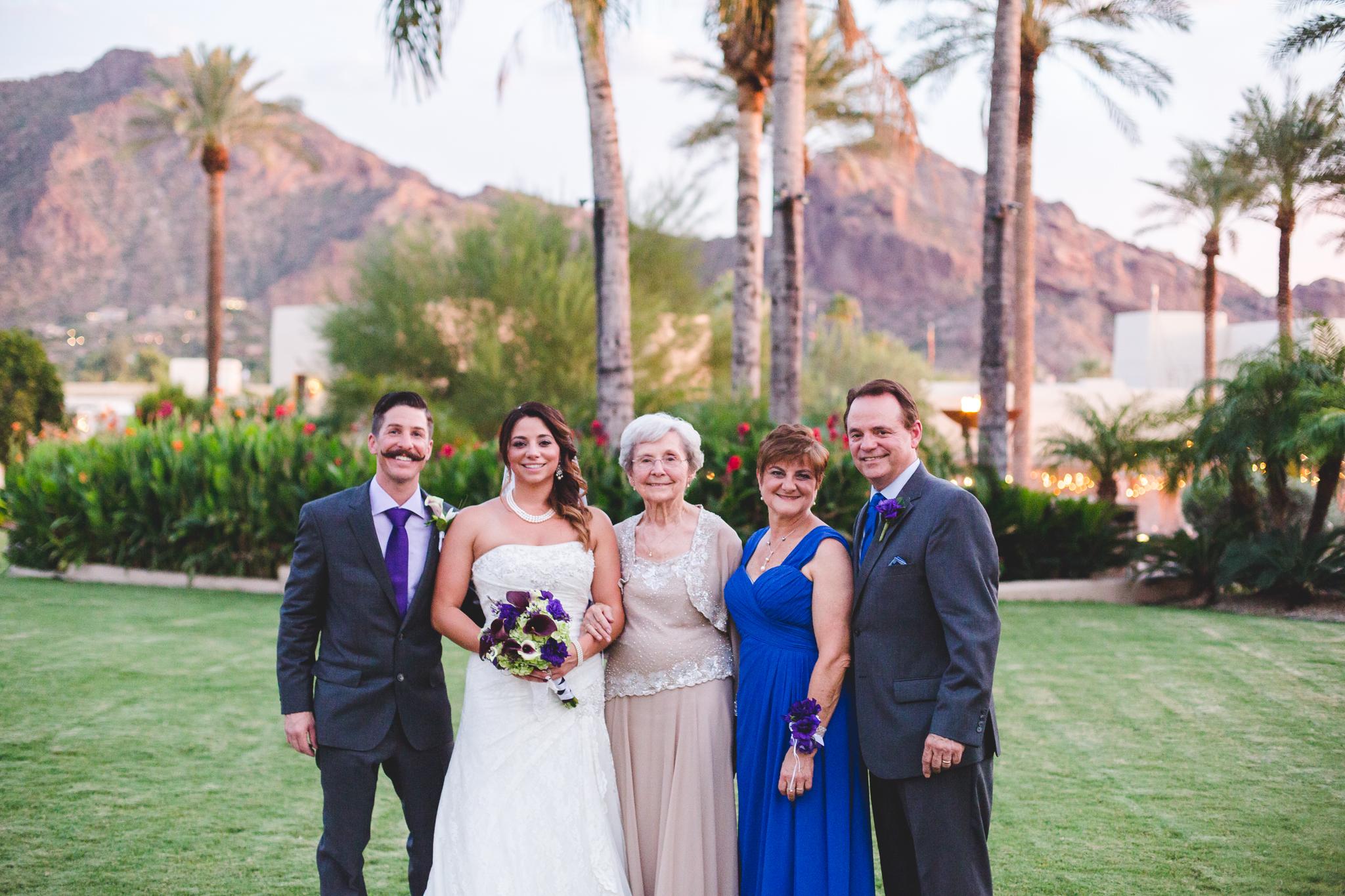 lori wedding family group photo