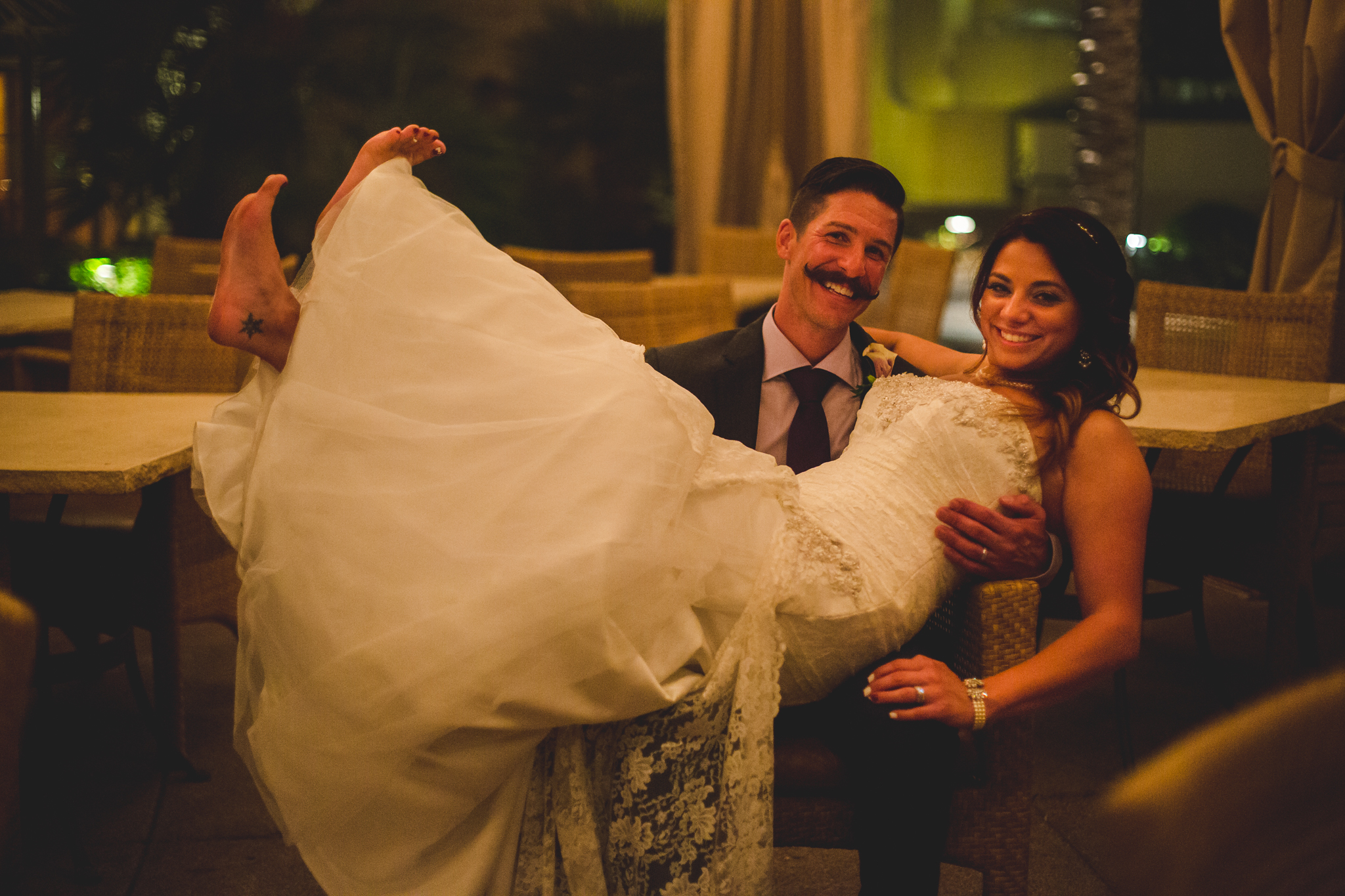 lc phoenix bride kicks her feet up in the air