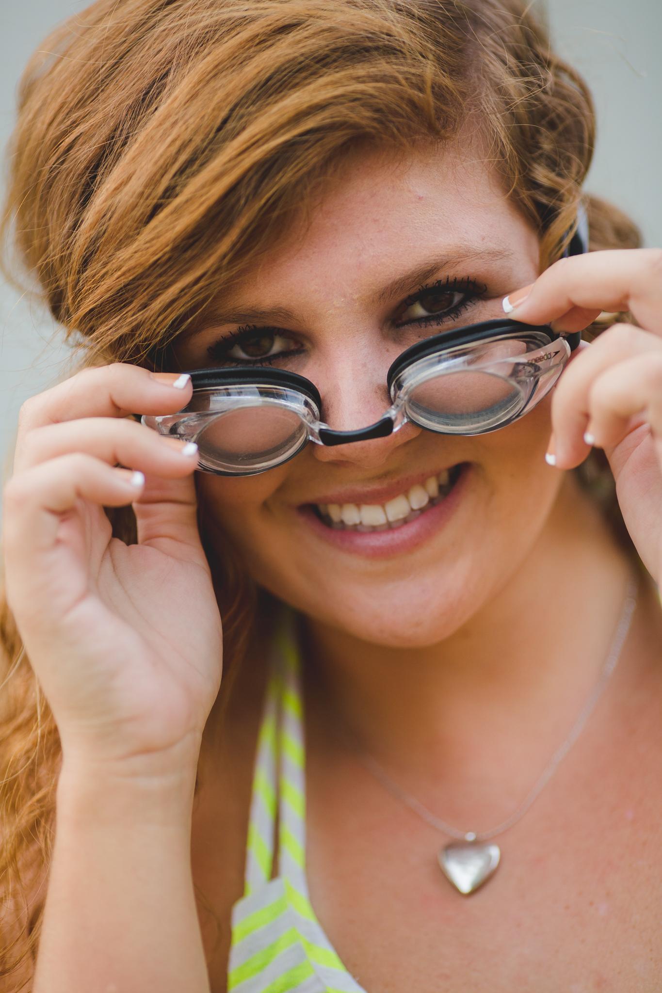 Marissa Peers Through Swim Goggles
