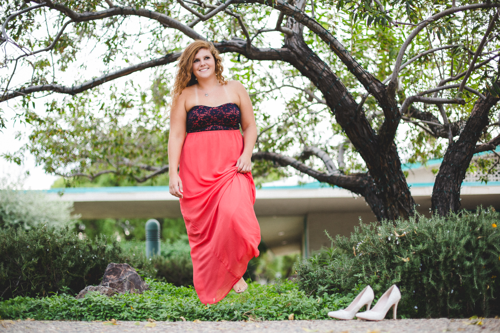 Marissa Walks Through Garden Senior Shoot