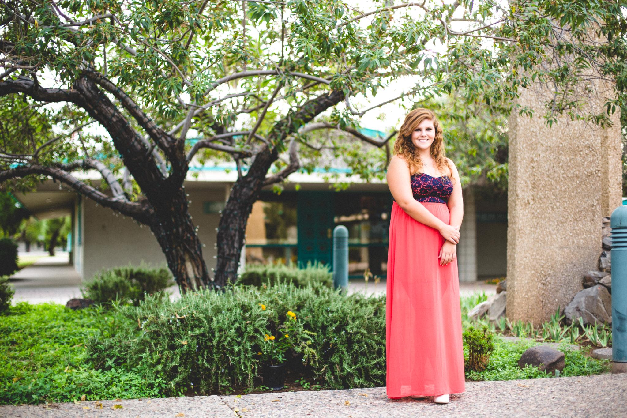Marissa Stands by Garden Senior Photography