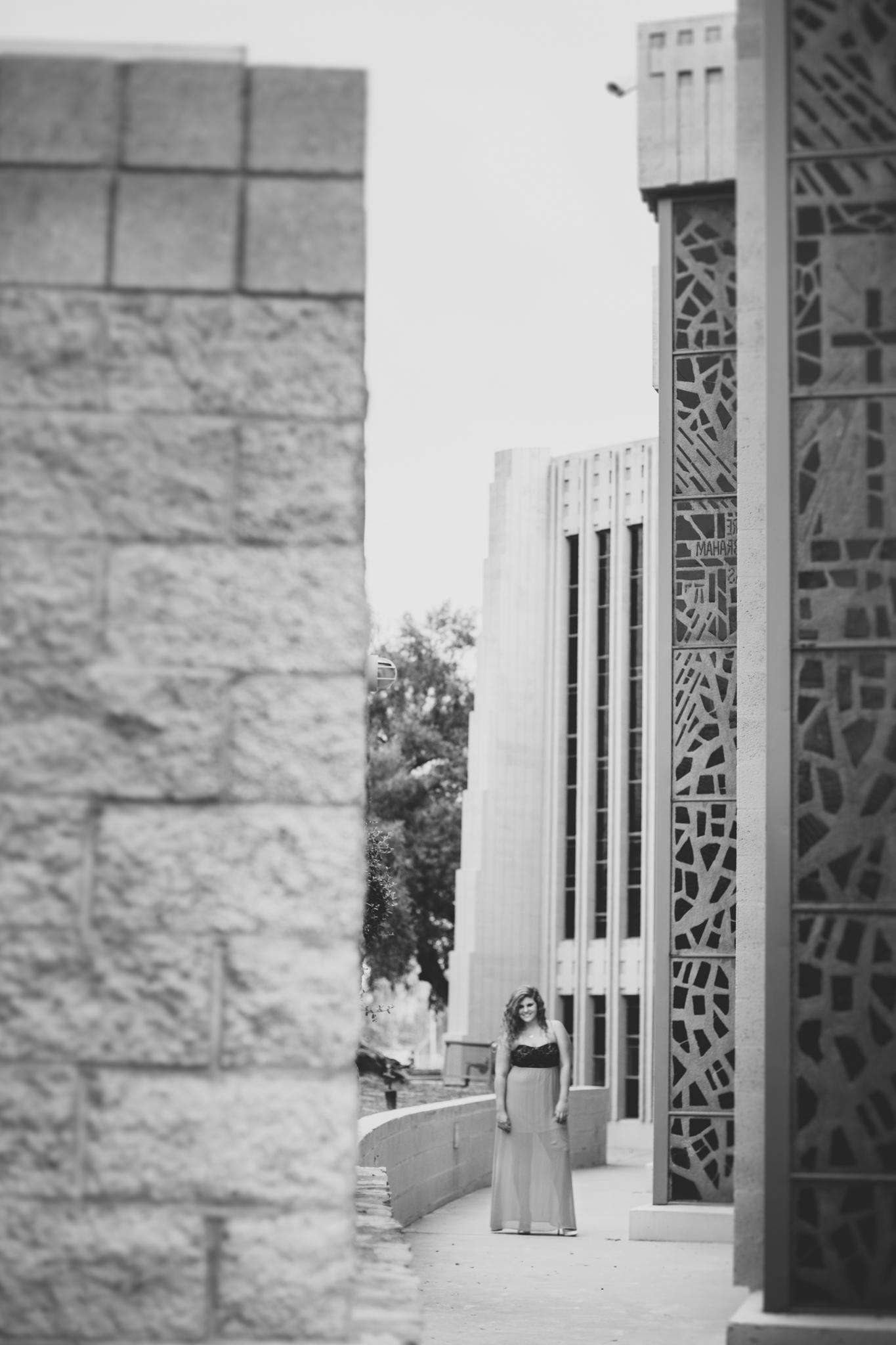 Marissa Senior Photo Black and White by Cool Architecture