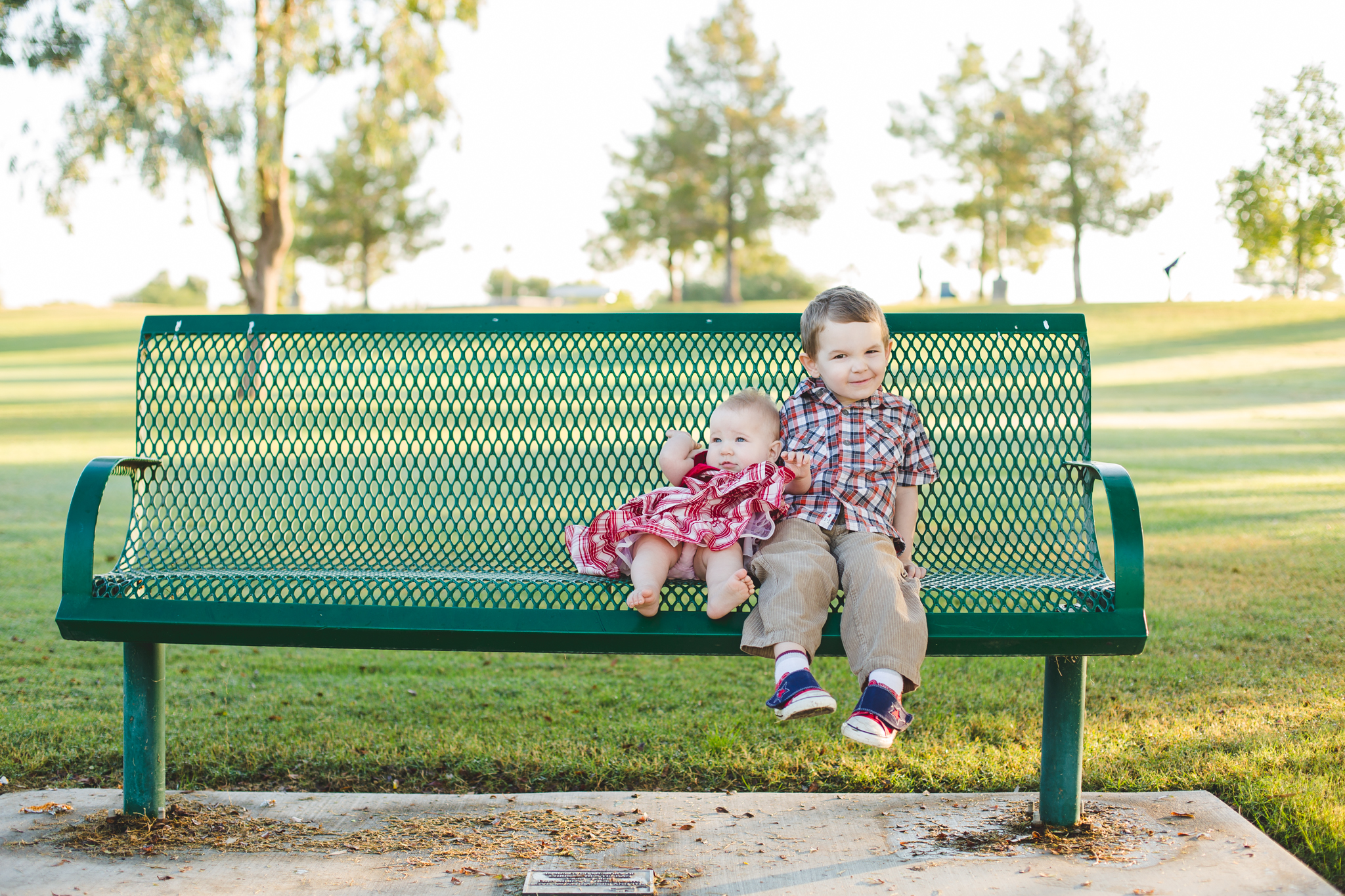 reed and amelia share a bench