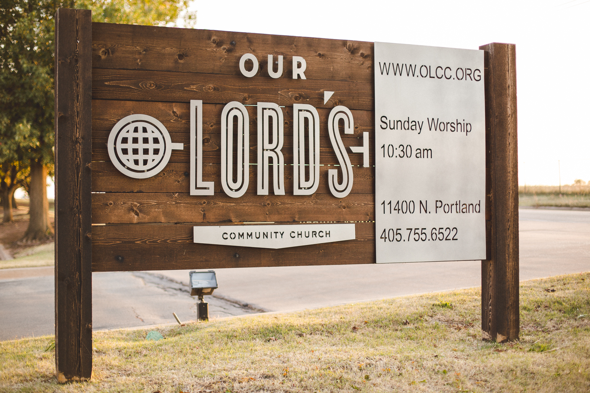 our lords community church sign