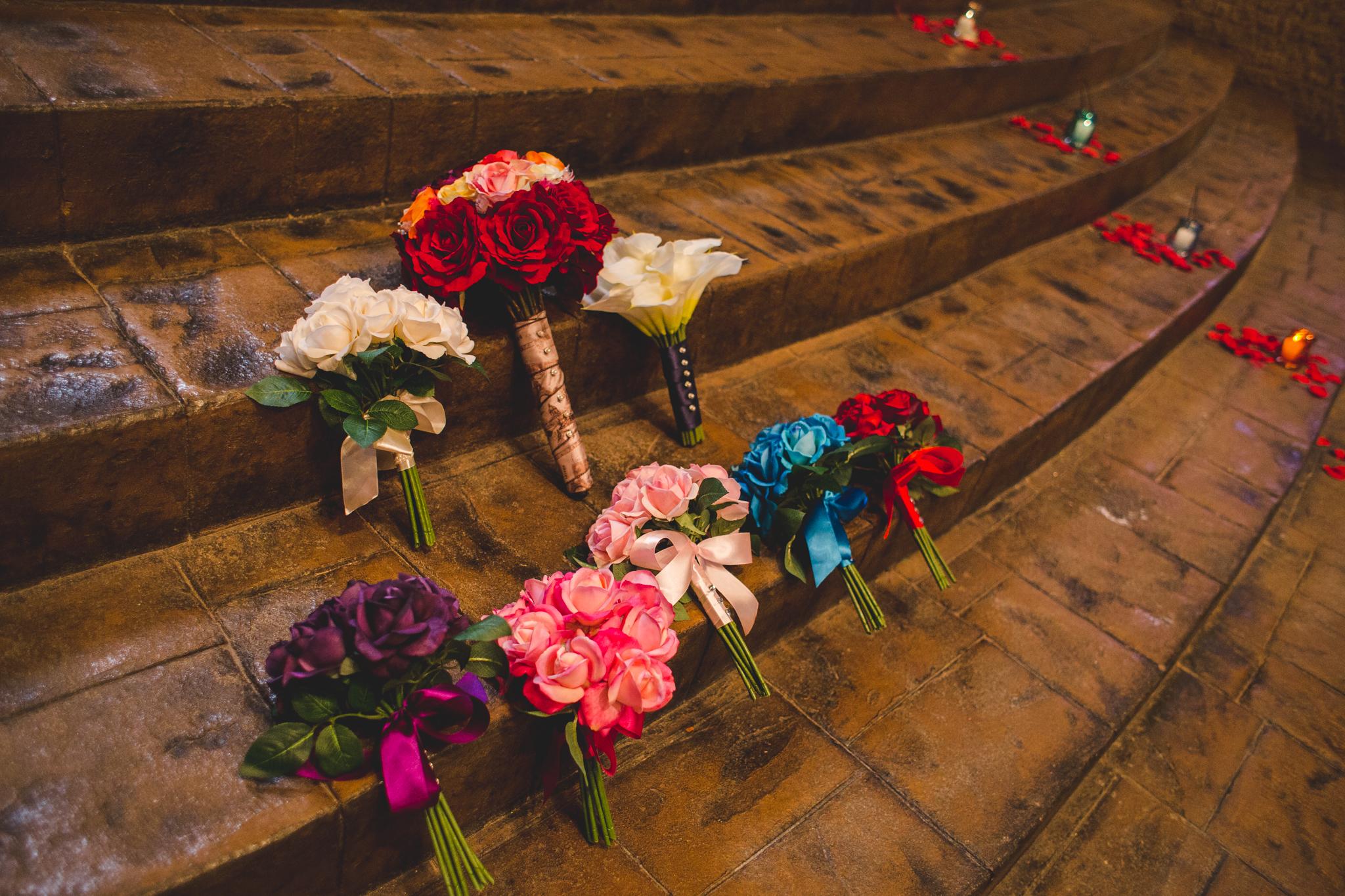 wedding details bouquet candles alter rs