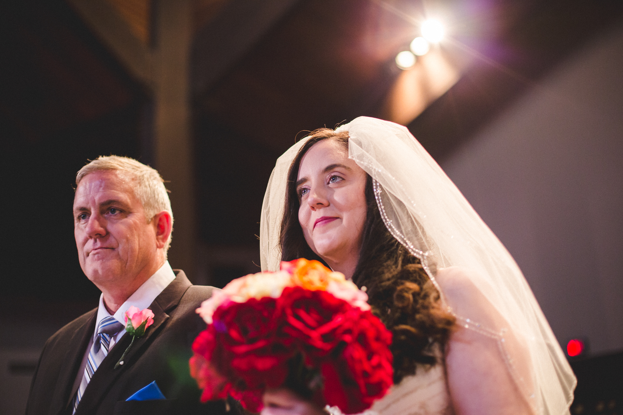 rs beautiful bride and father come down aisle oklahoma city
