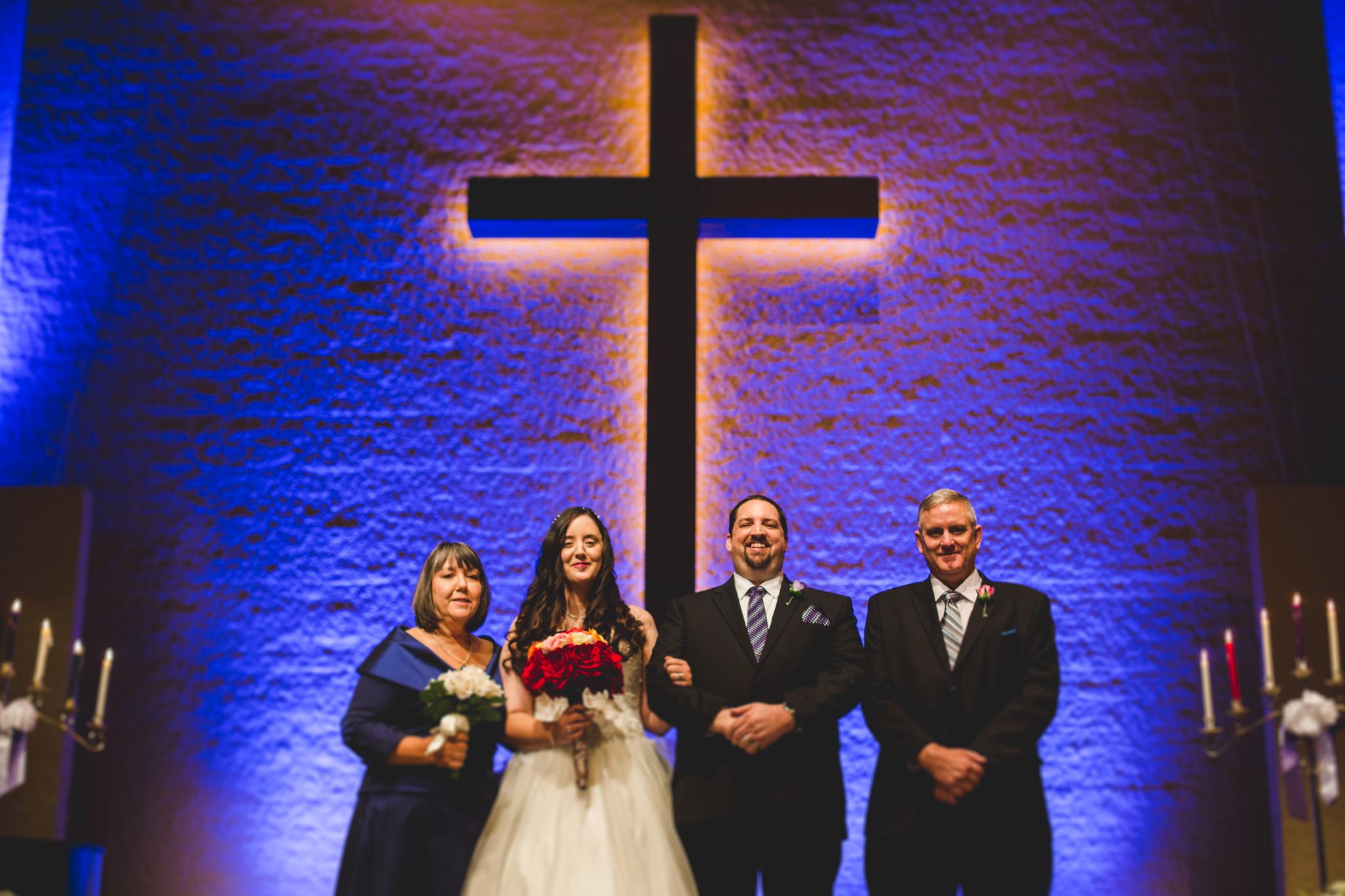 rs wedding formal bride groom parents tilt shift effect