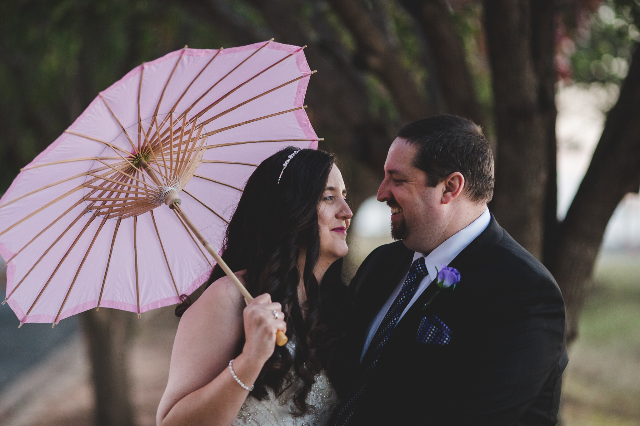 rs bride looks at groom and smiles during creatives