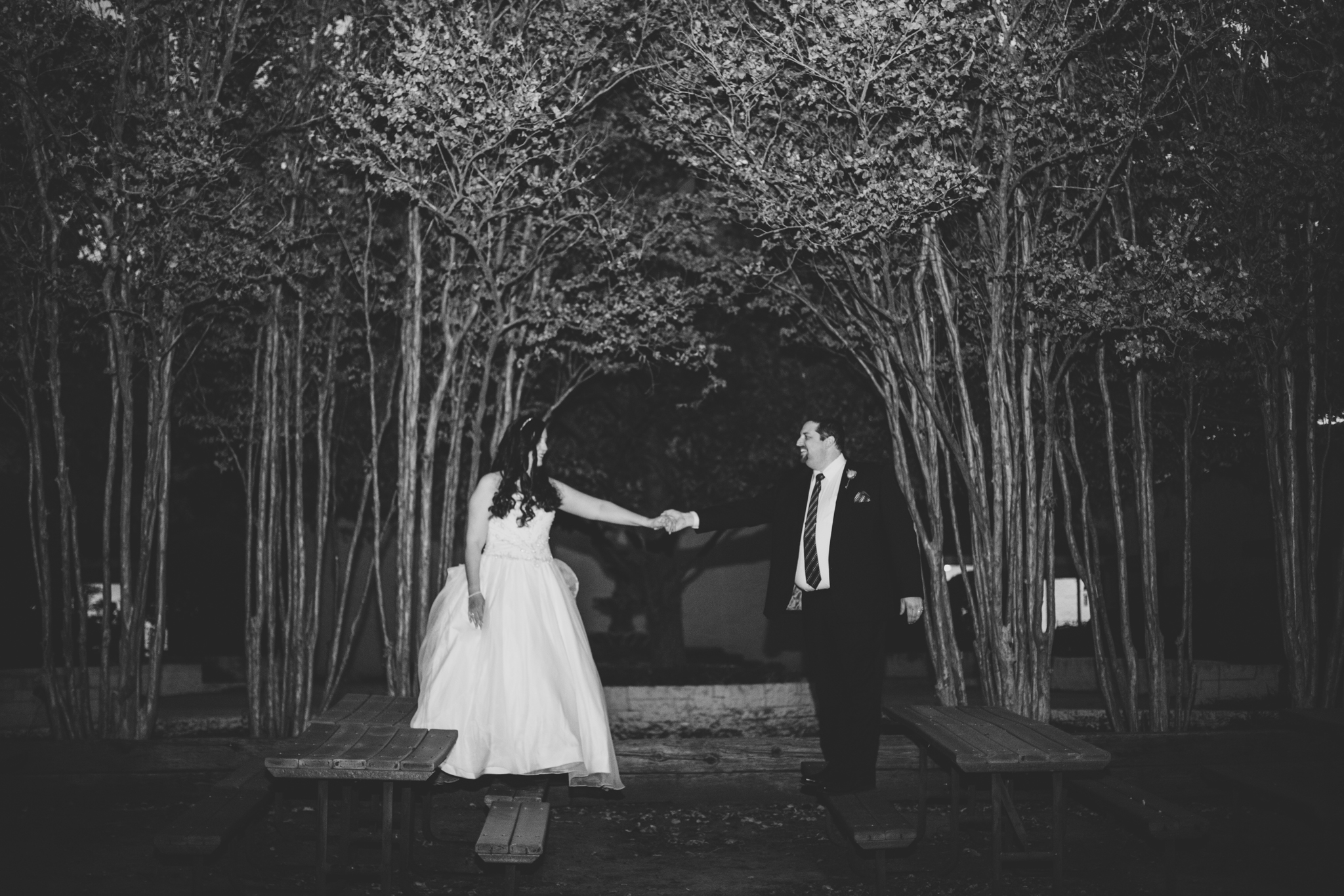 rs creative black and white shot bride groom trees