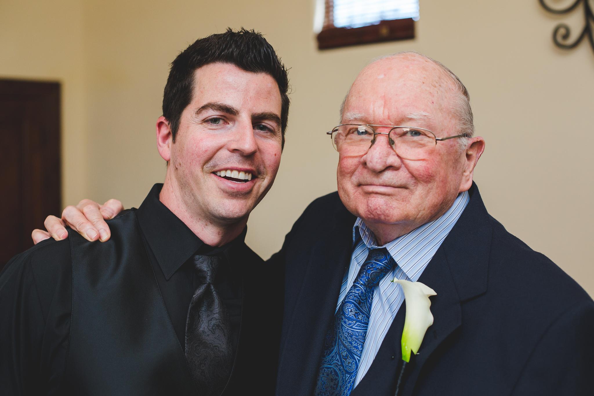 groom and grandfather mj