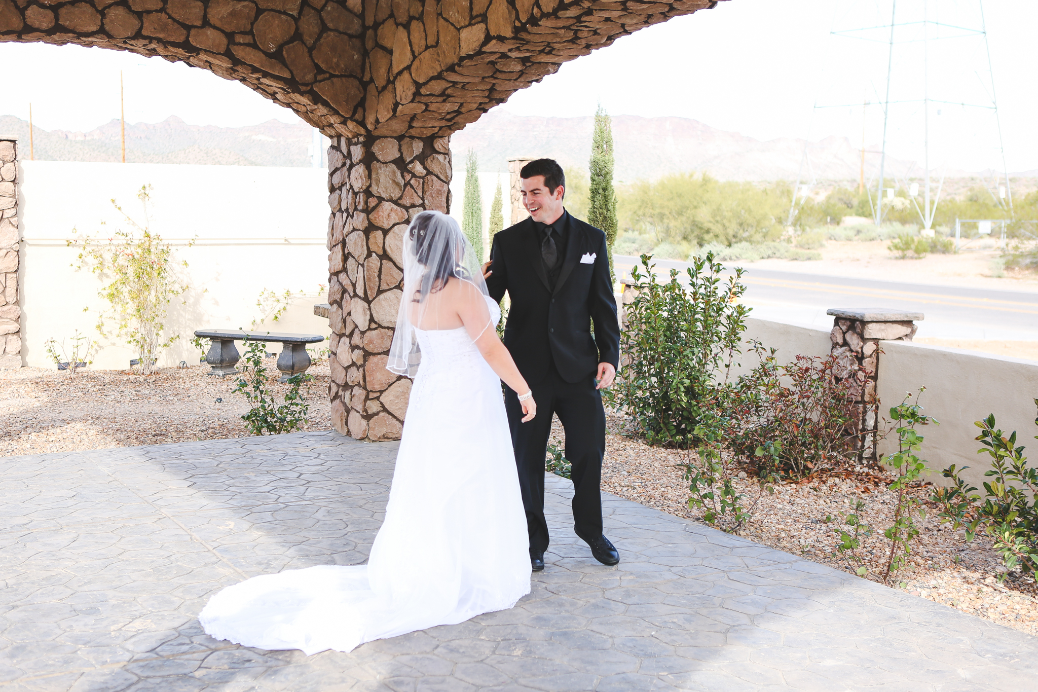 first look grooms reaction superstition manor mj