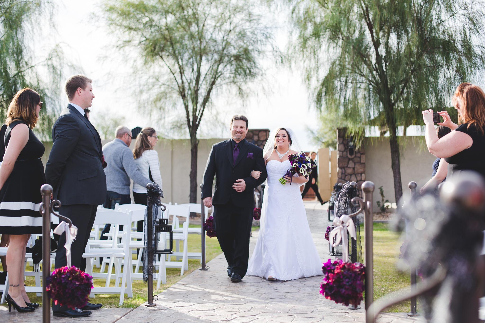 bride walking down aisle ceremony mj
