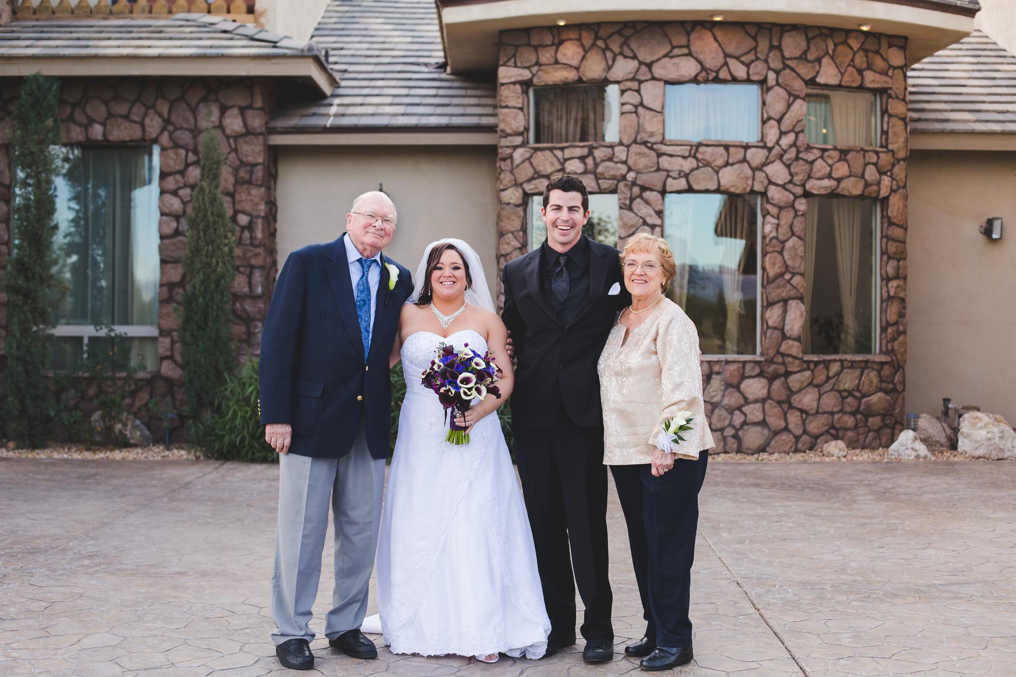 grandparents wedding group shot mj