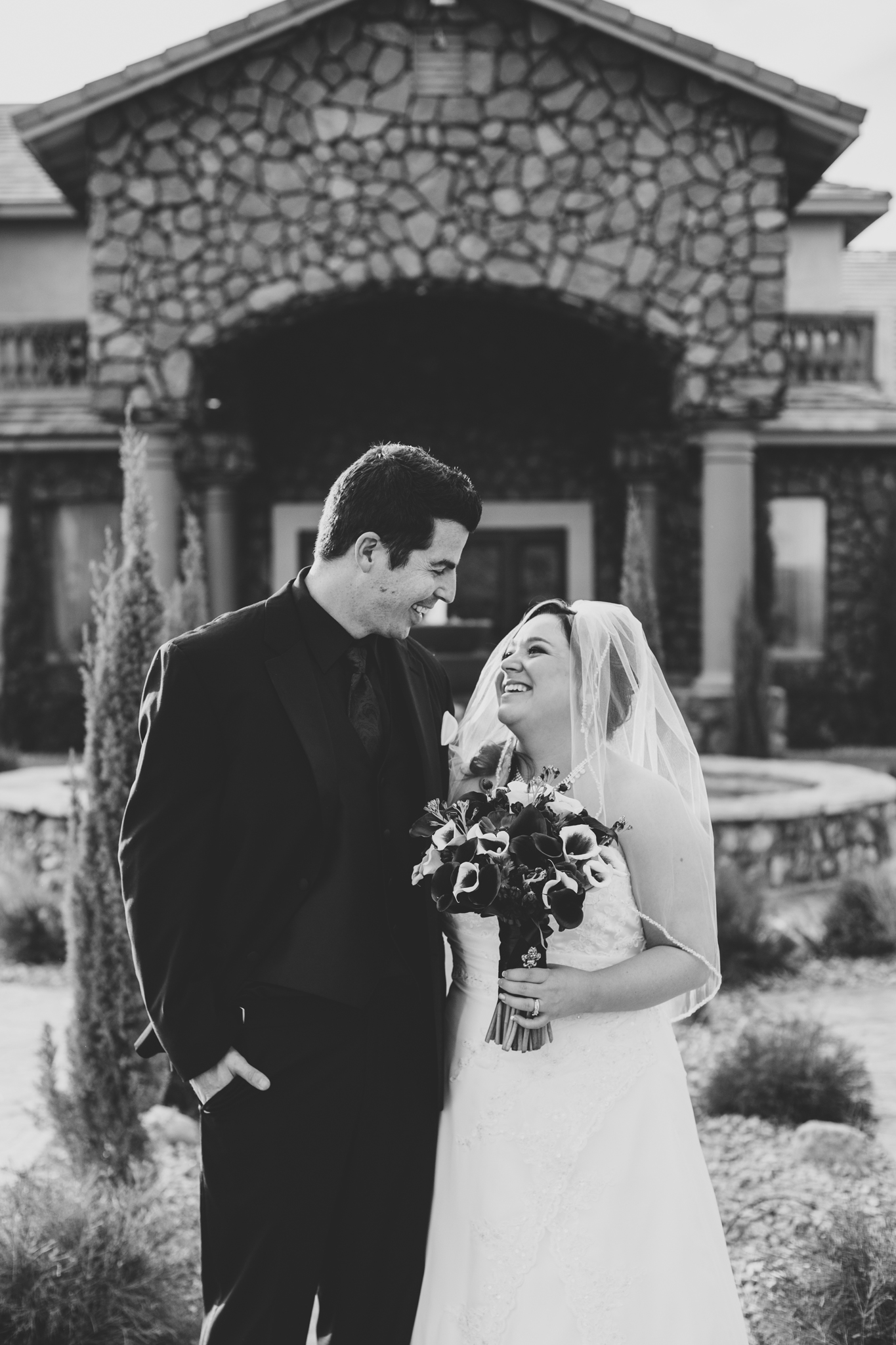 aaron kes photography bride and groom black and white laughing portraits mj