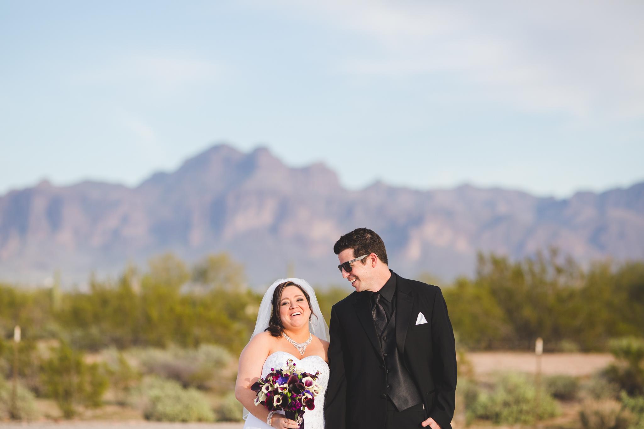 superstition manor superstition mountains bride groom portrait mj