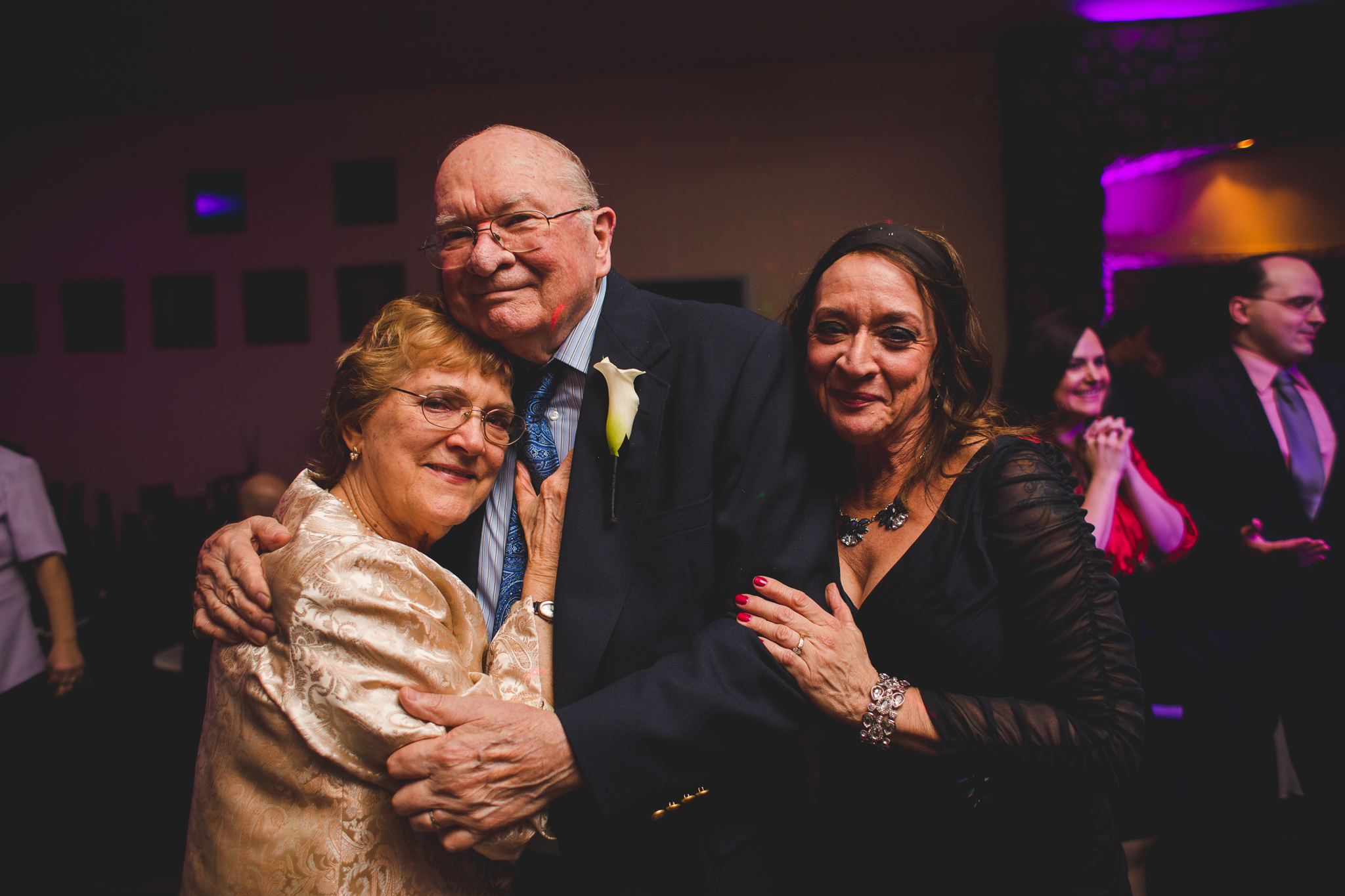 relatives share sweet moment at wedding mj