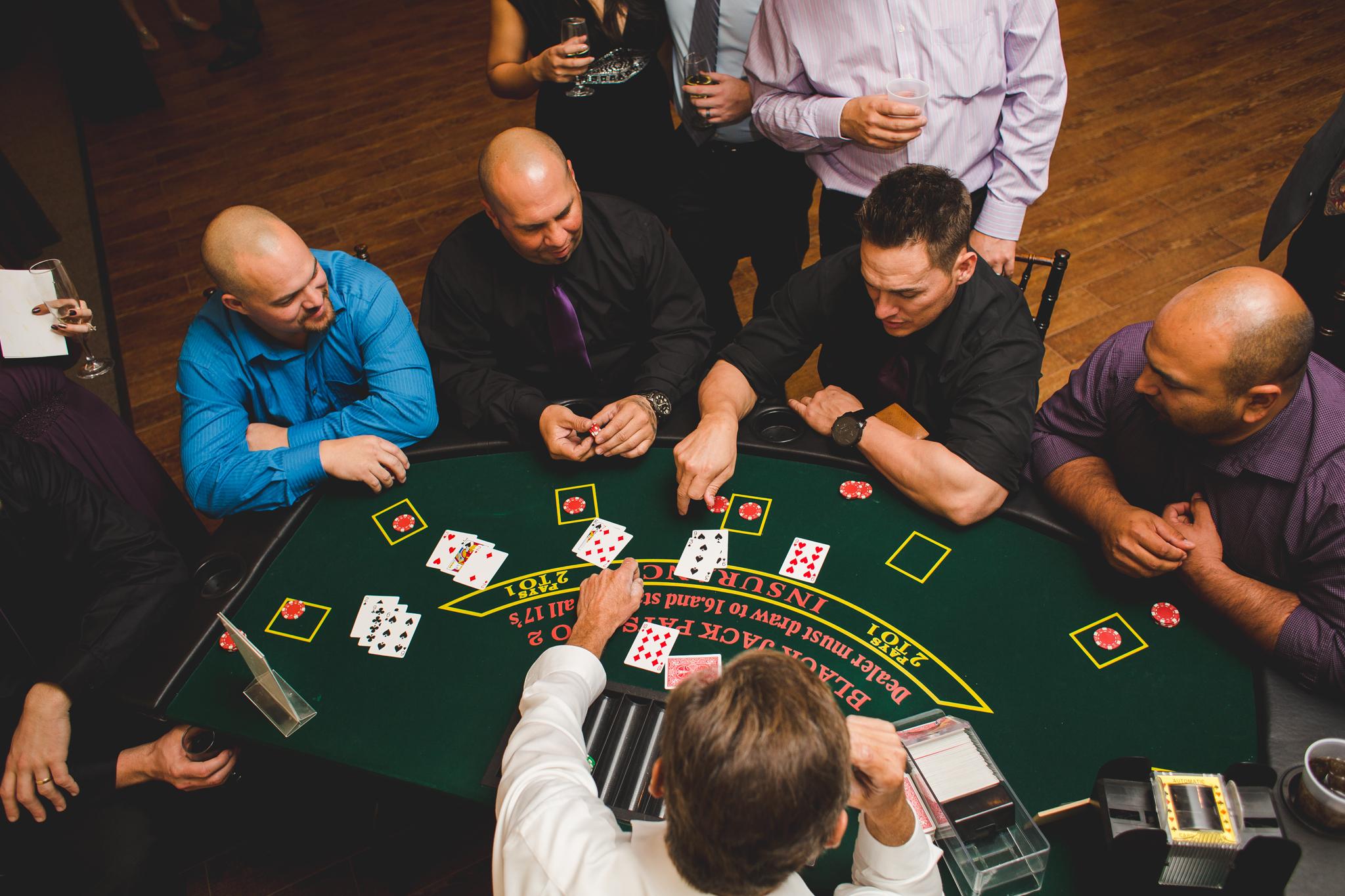 wedding reception blackjack mj