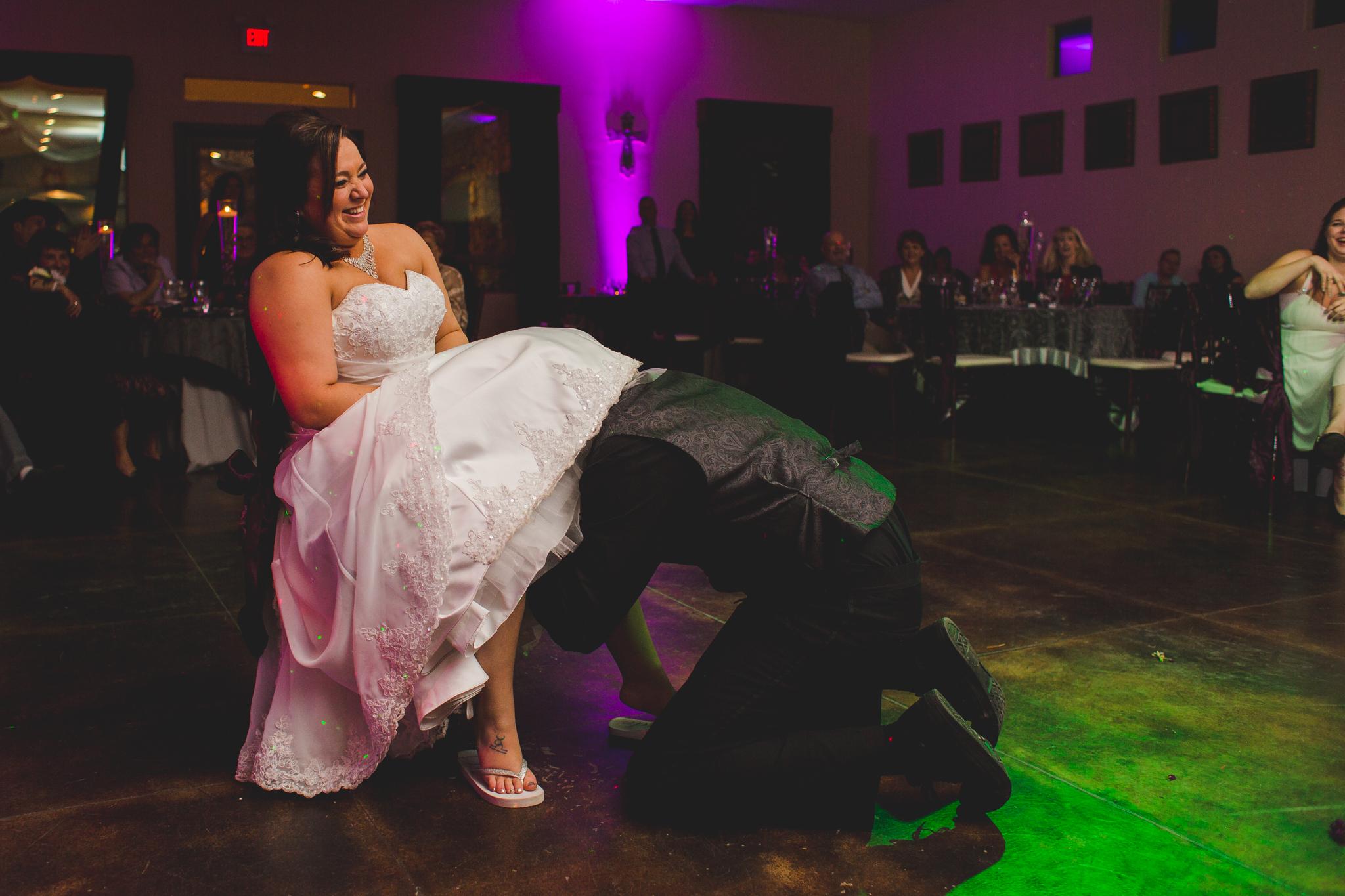 groom gets garter mj