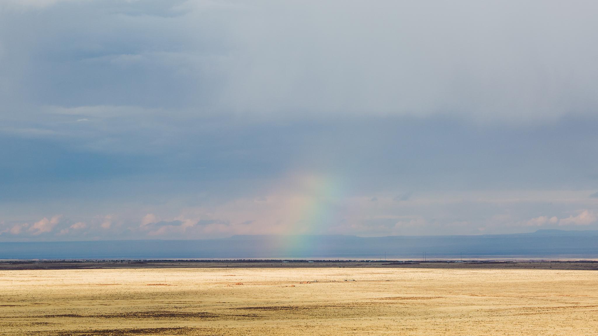 beautiful landscape arizona desert rainbow