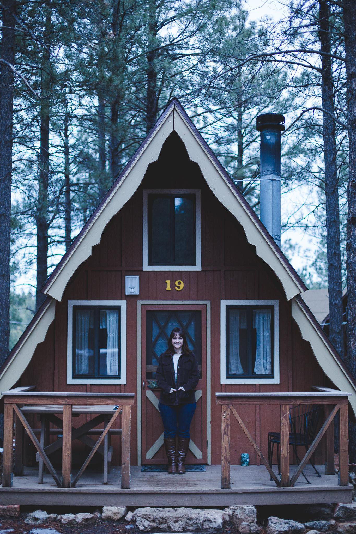 flagstaff arizona mountain inn cabin and katie color