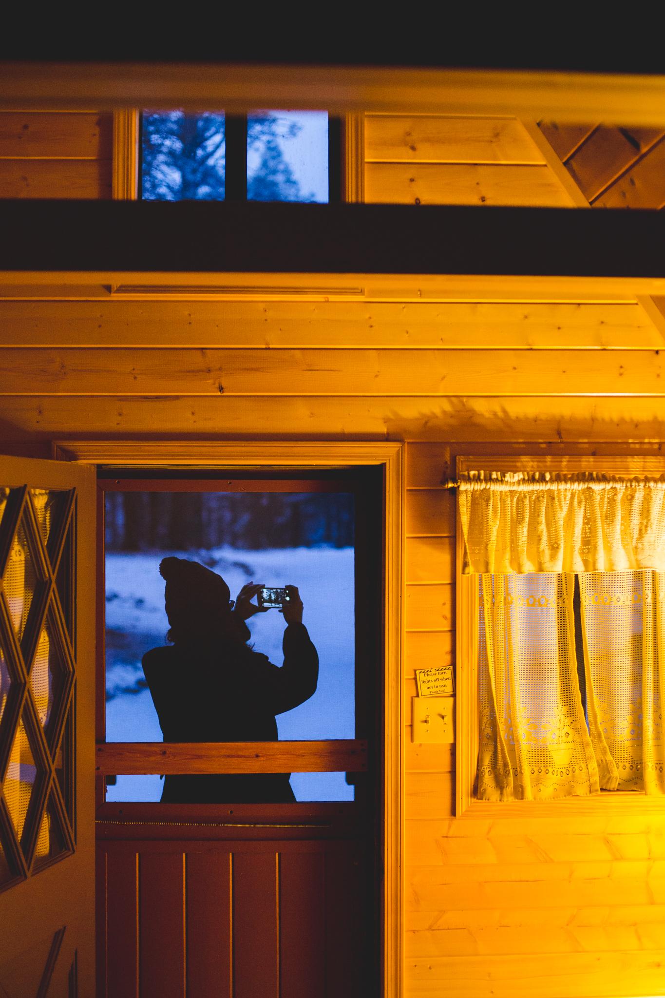 morning at arizona mountain inn cabin