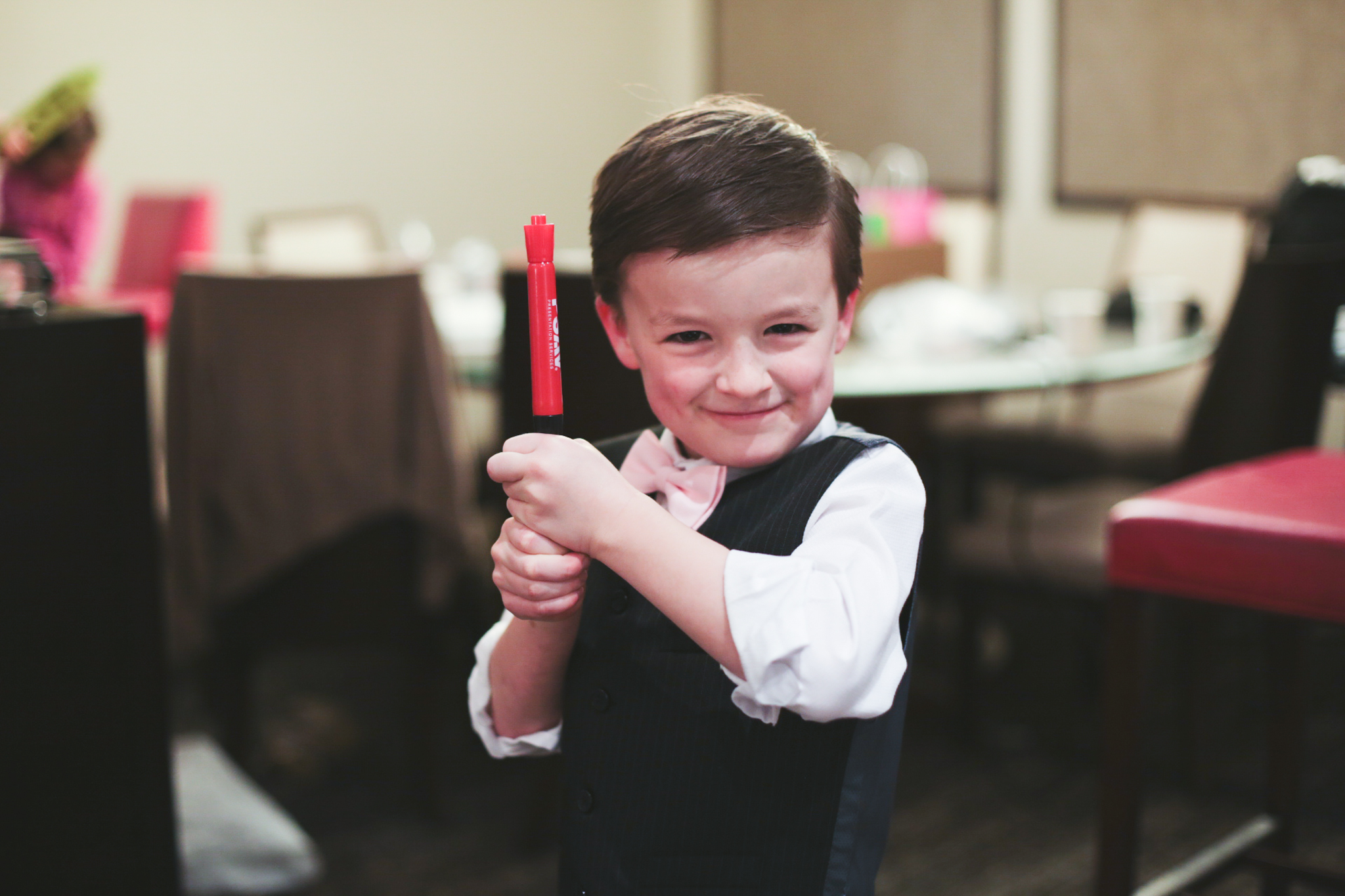 ring bearer plays with markers hj