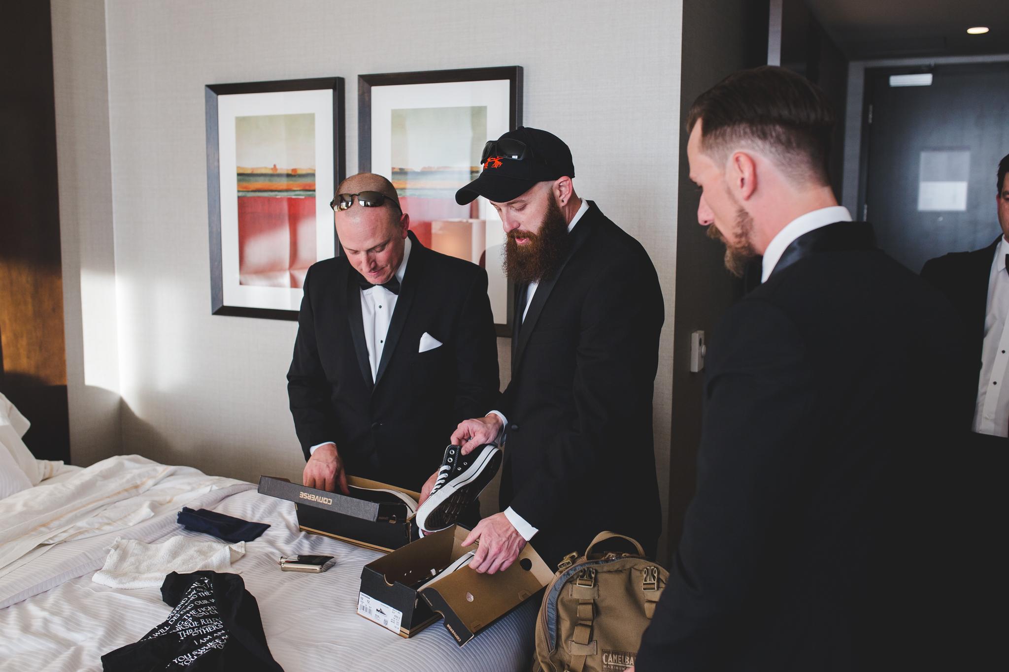 groomsmen get presents from groom hj