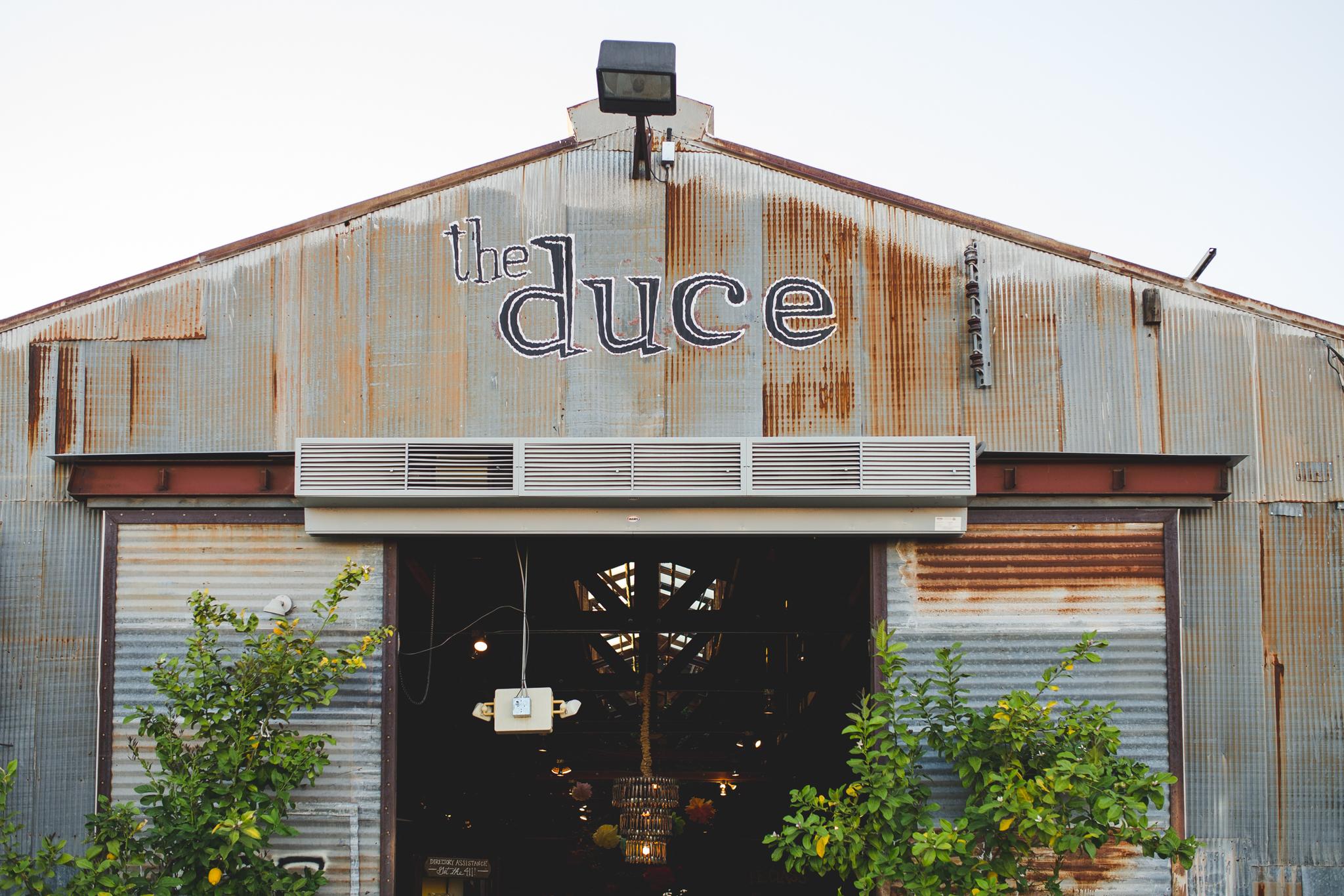 the duce sign above entrance phoenix hj