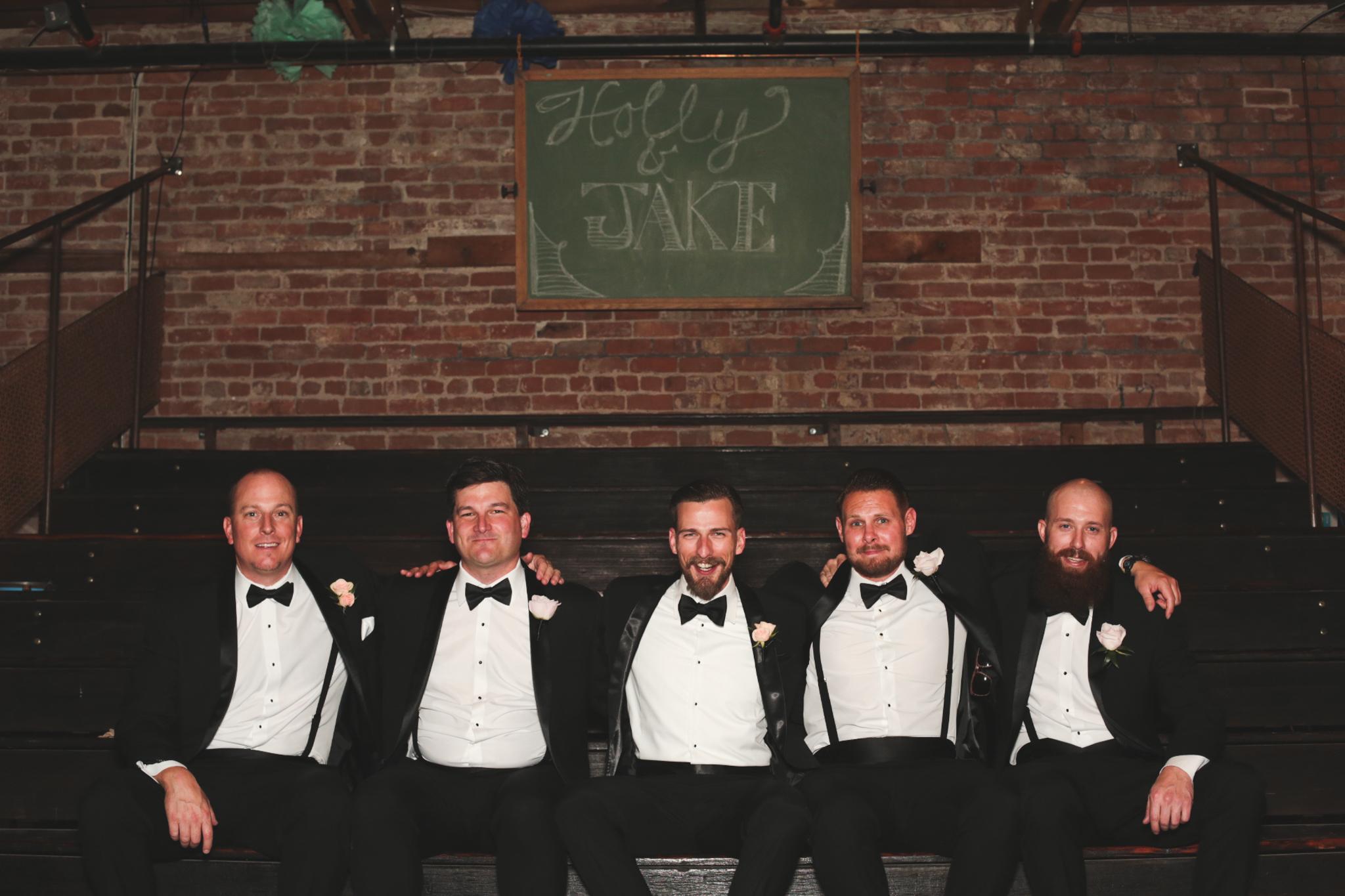 groom and groomsmen portrait the duce phoenix hj