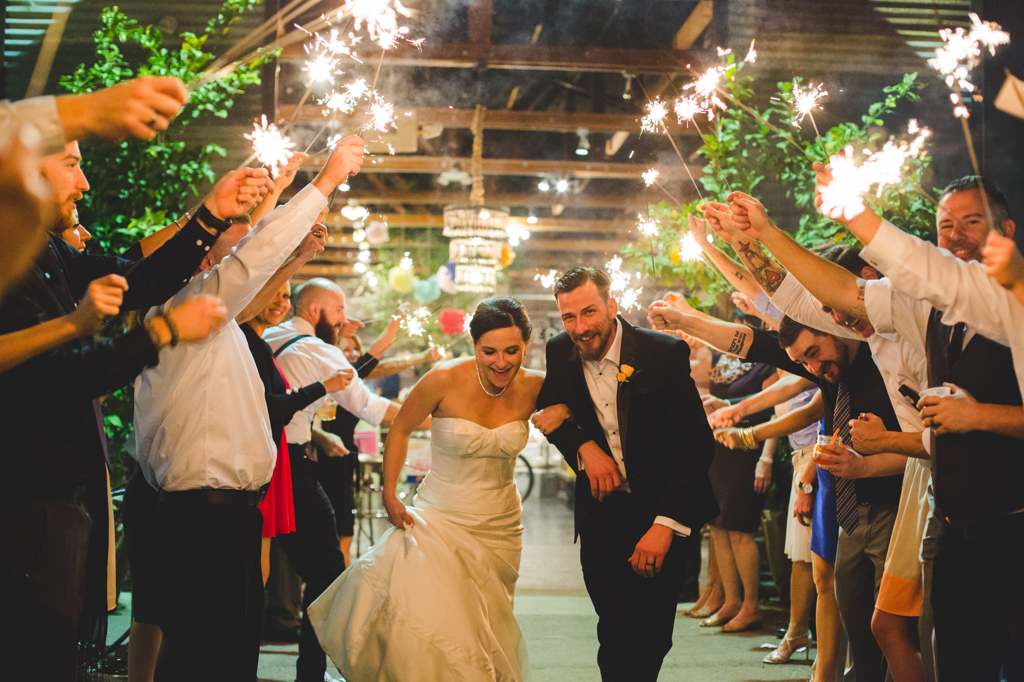 bride and groom sparkler exit the duce phoenix hj