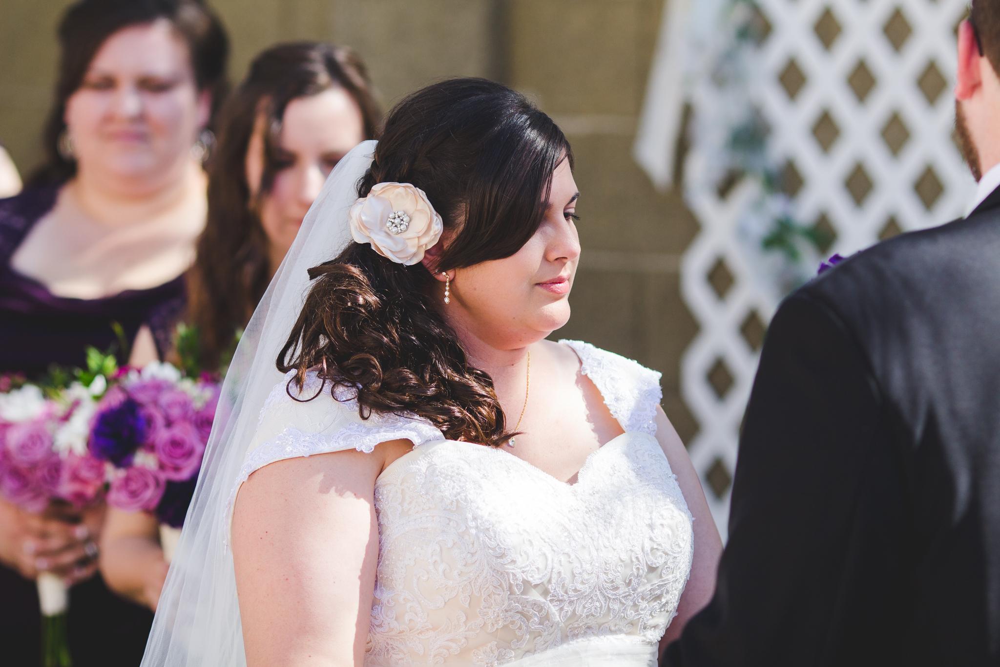 bride during ceremony sd