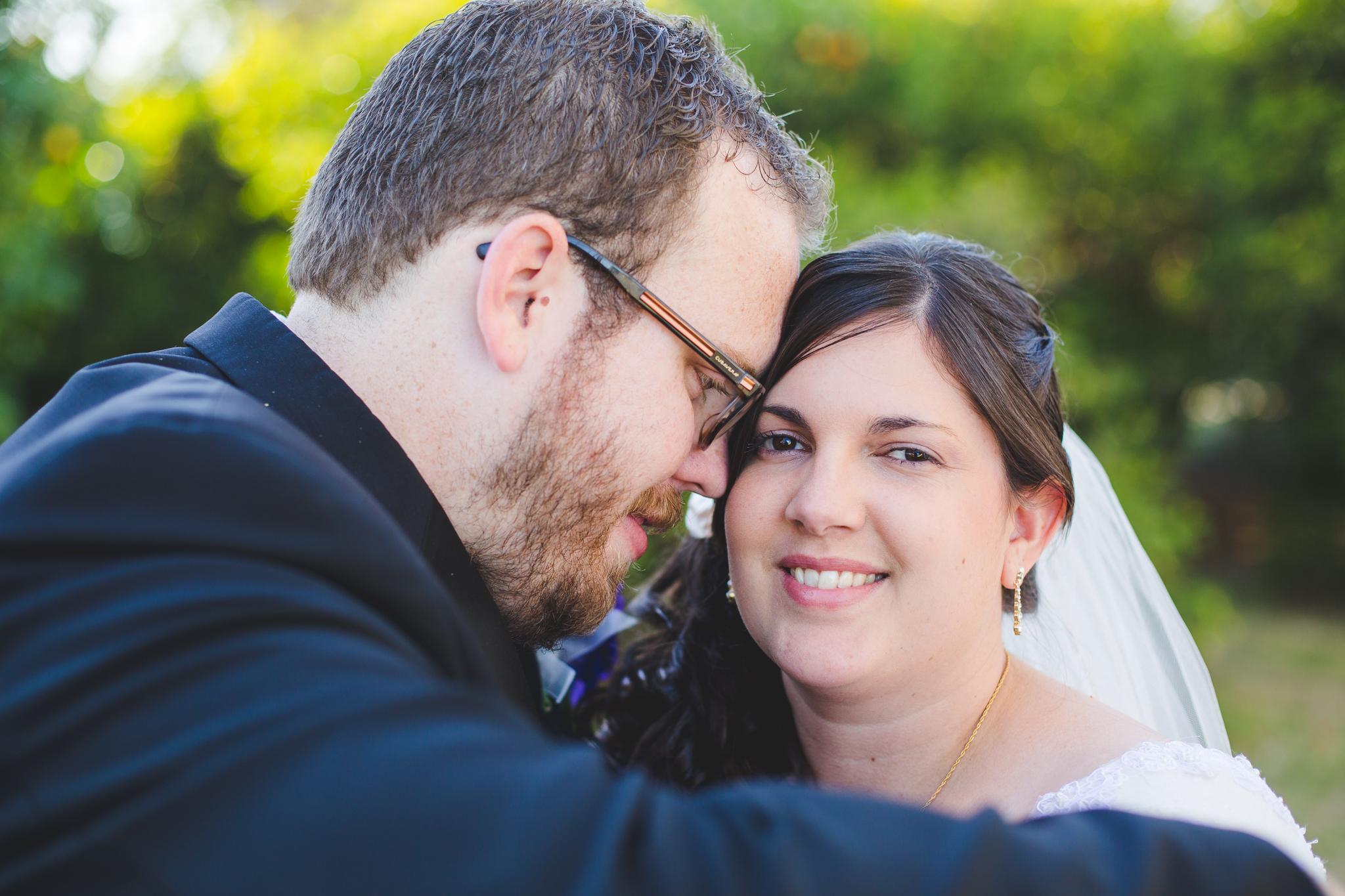 bride and groom get close sd