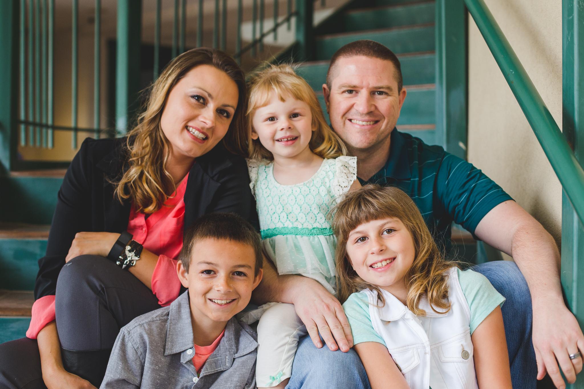 vote family on steps