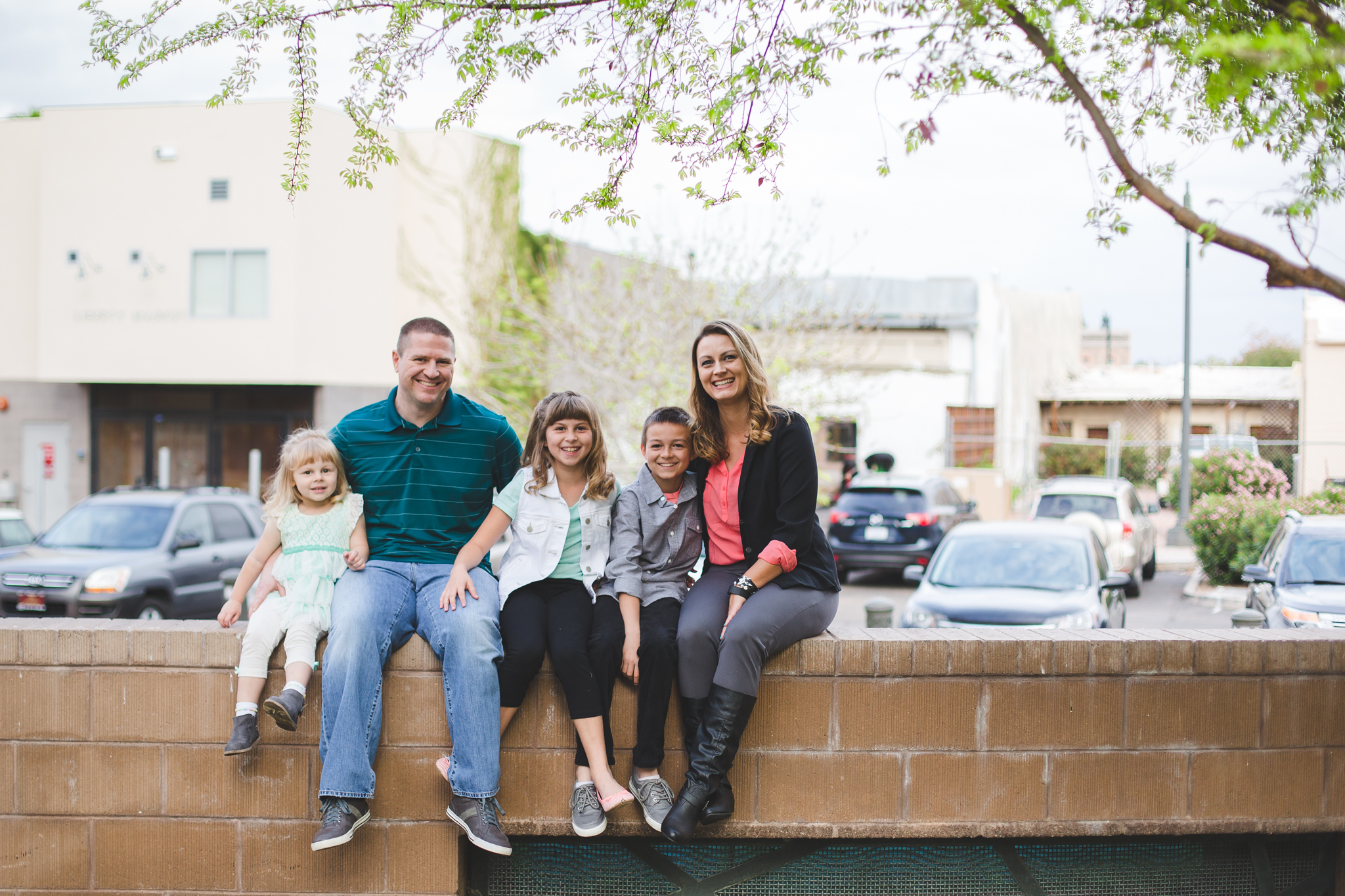 vote family sitting on wall