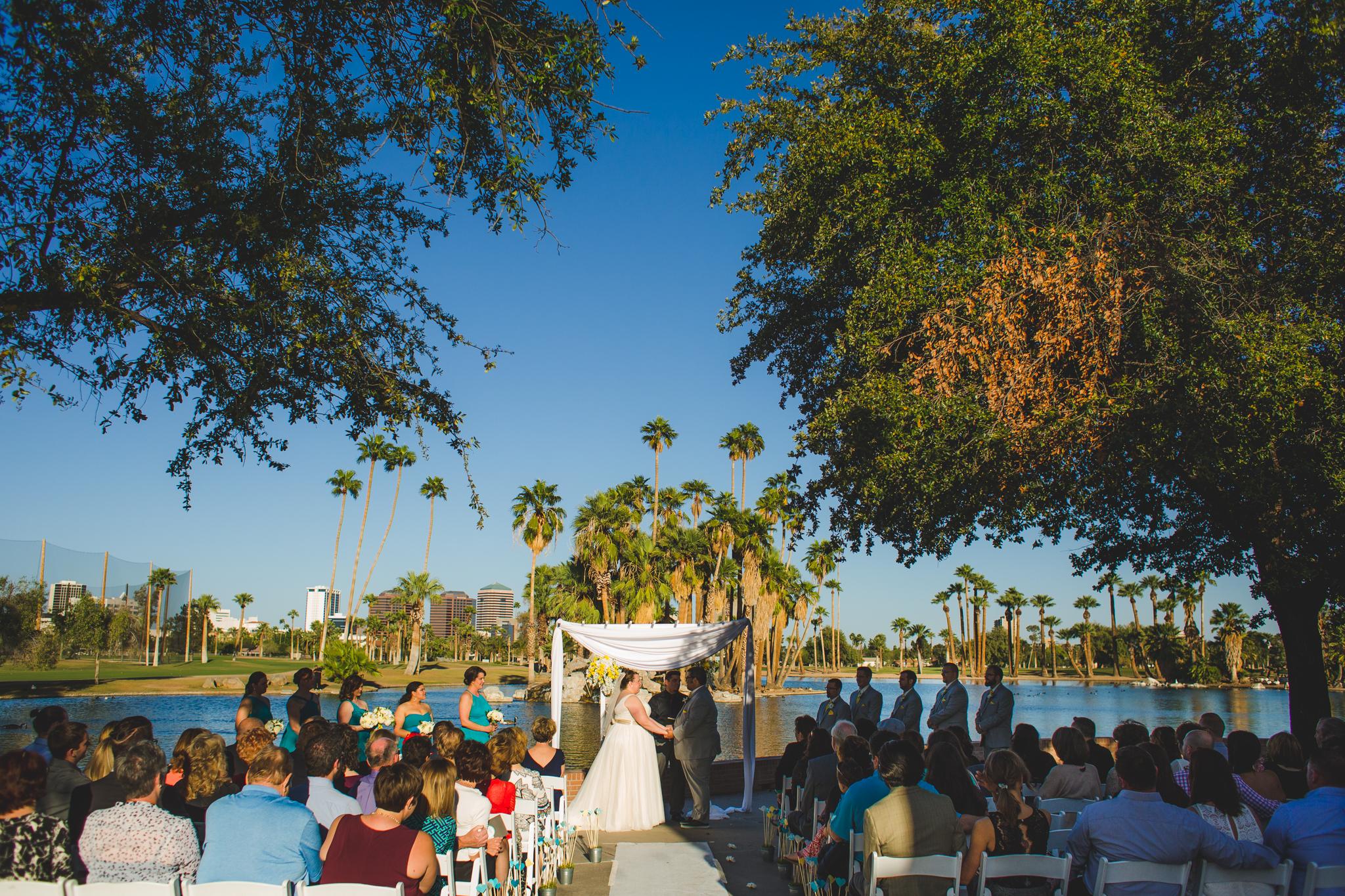 Dana And Mike S Encanto Park Phoenix Wedding Aaron Kes Photography