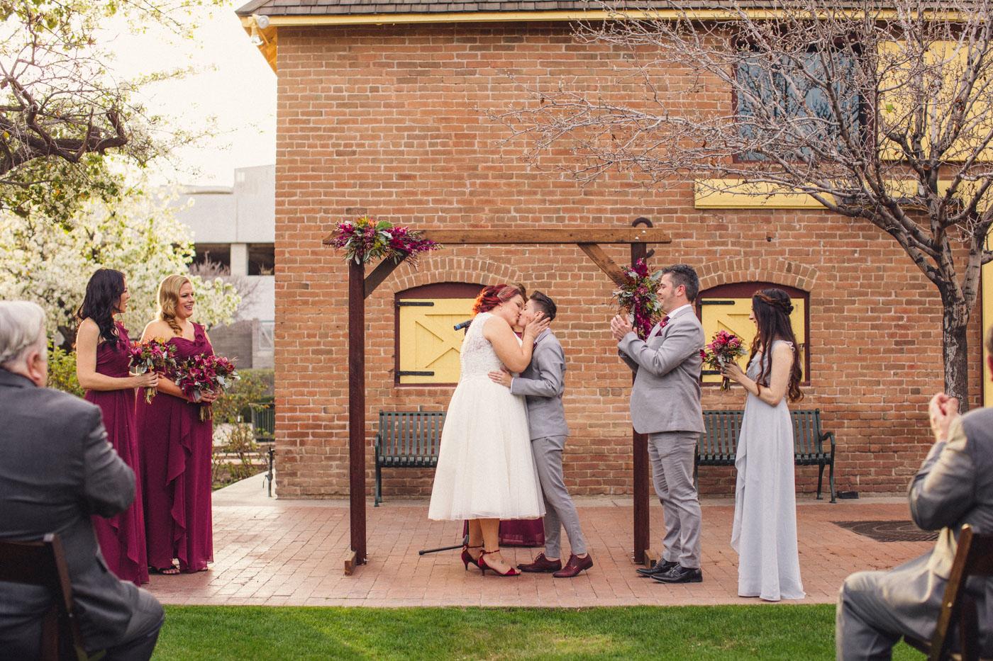 heritage-square-wedding-ceremony-kiss