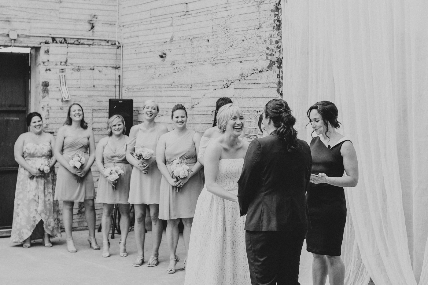 black-and-white-bride-laughing