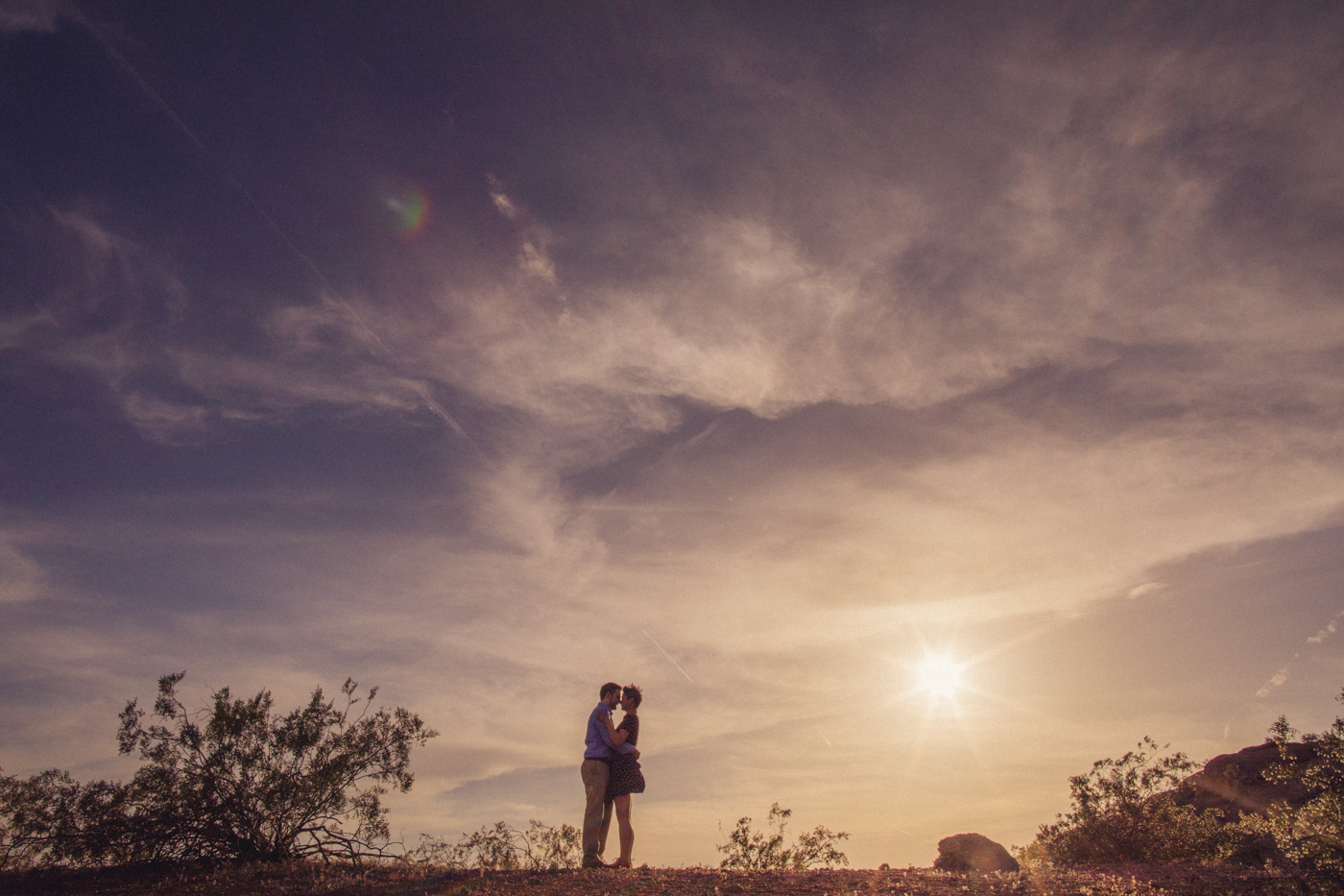 sun-flare-engagement-session