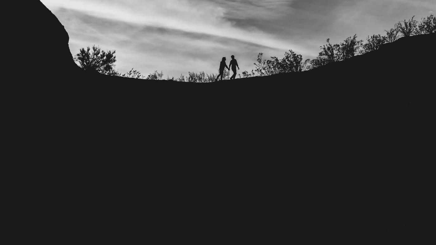 black-and-white-silhouette-engagement-photo