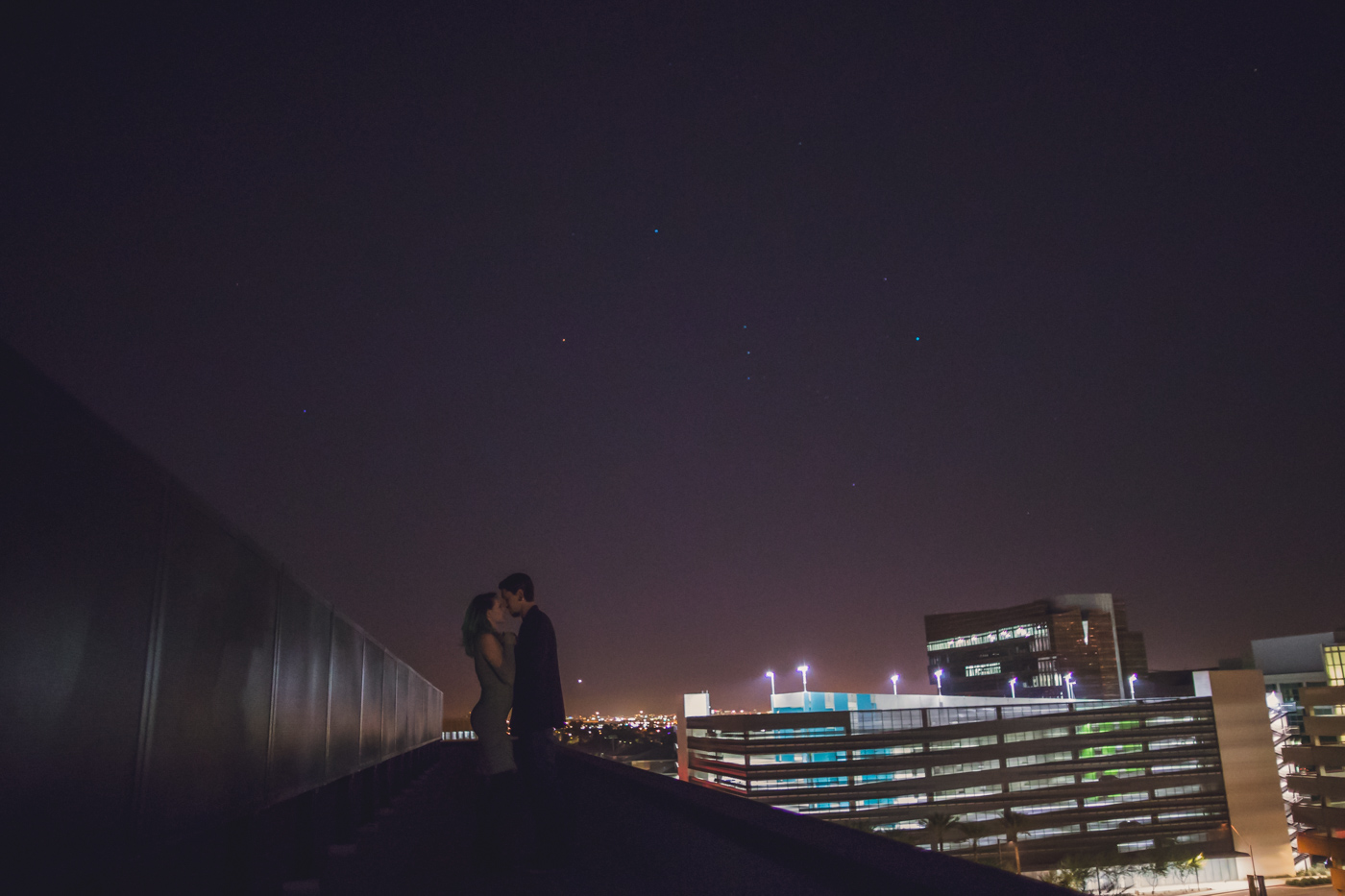 downtown-phoenix-rooftop-engagement-session