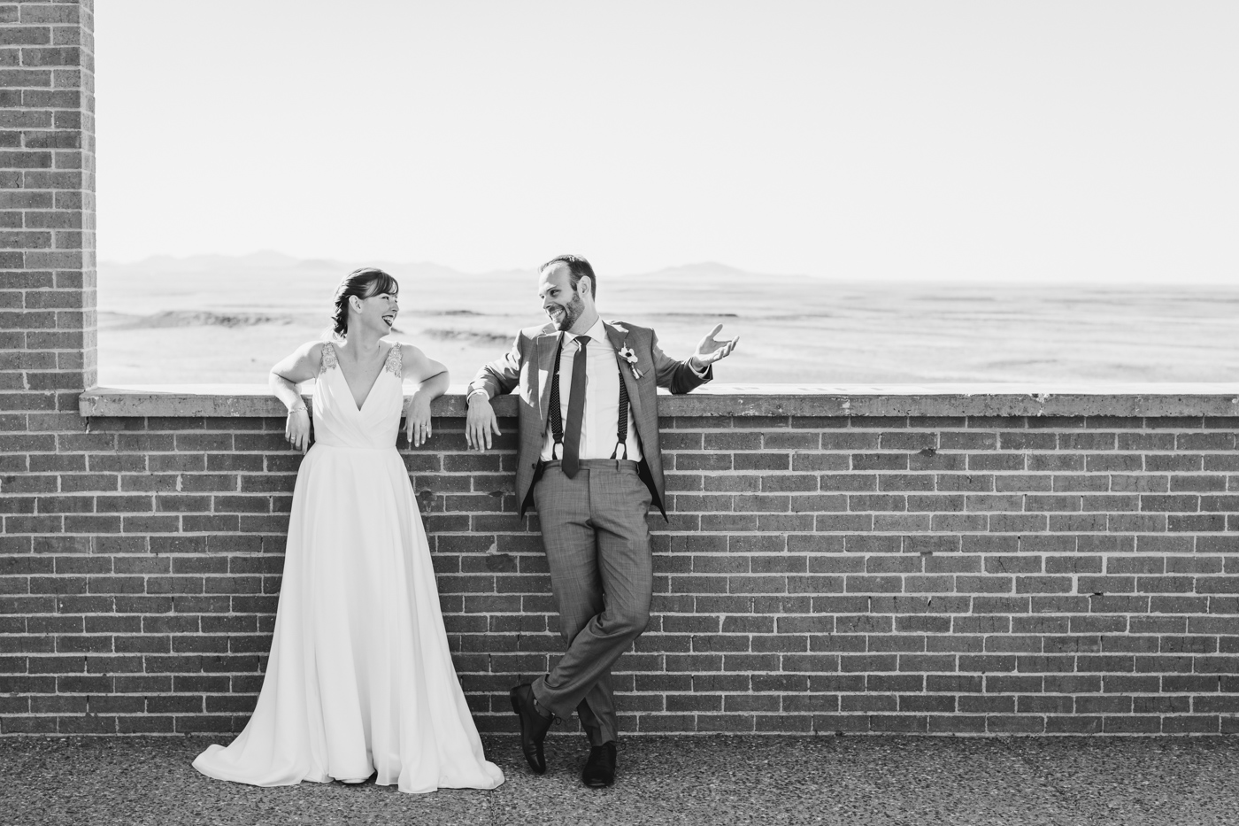black-and-white-smiling-wedding-portrait