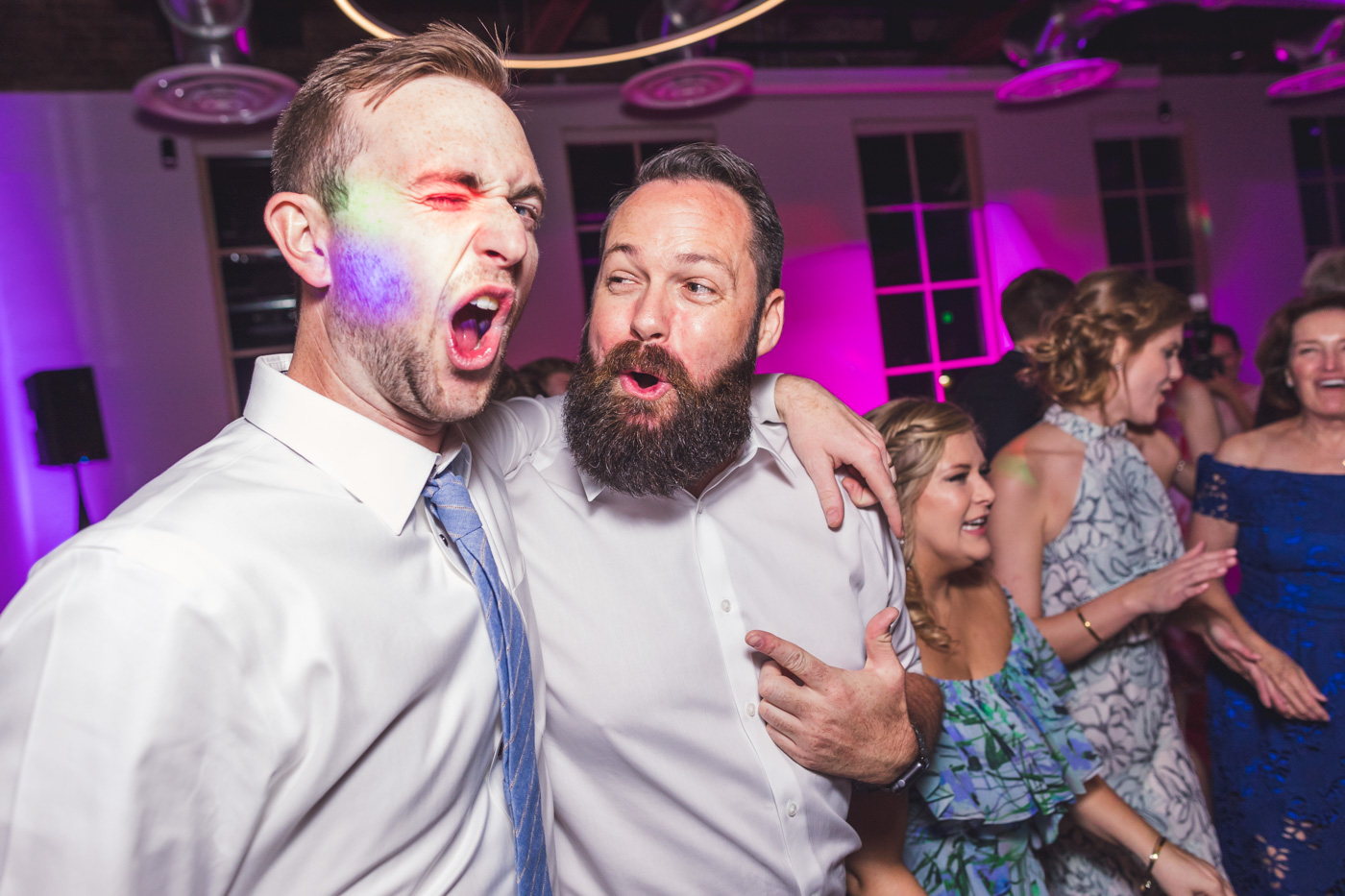 groomsmen-being-silly-at-reception
