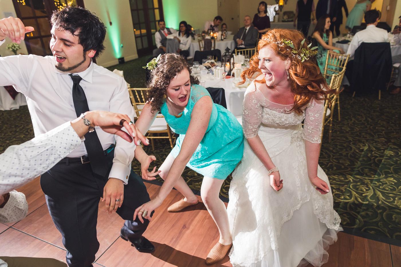 bride-dancing-with-bridesmaid