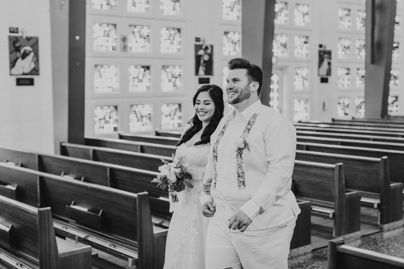 smiling-husband-and-wife-phoenix-wedding-recessional