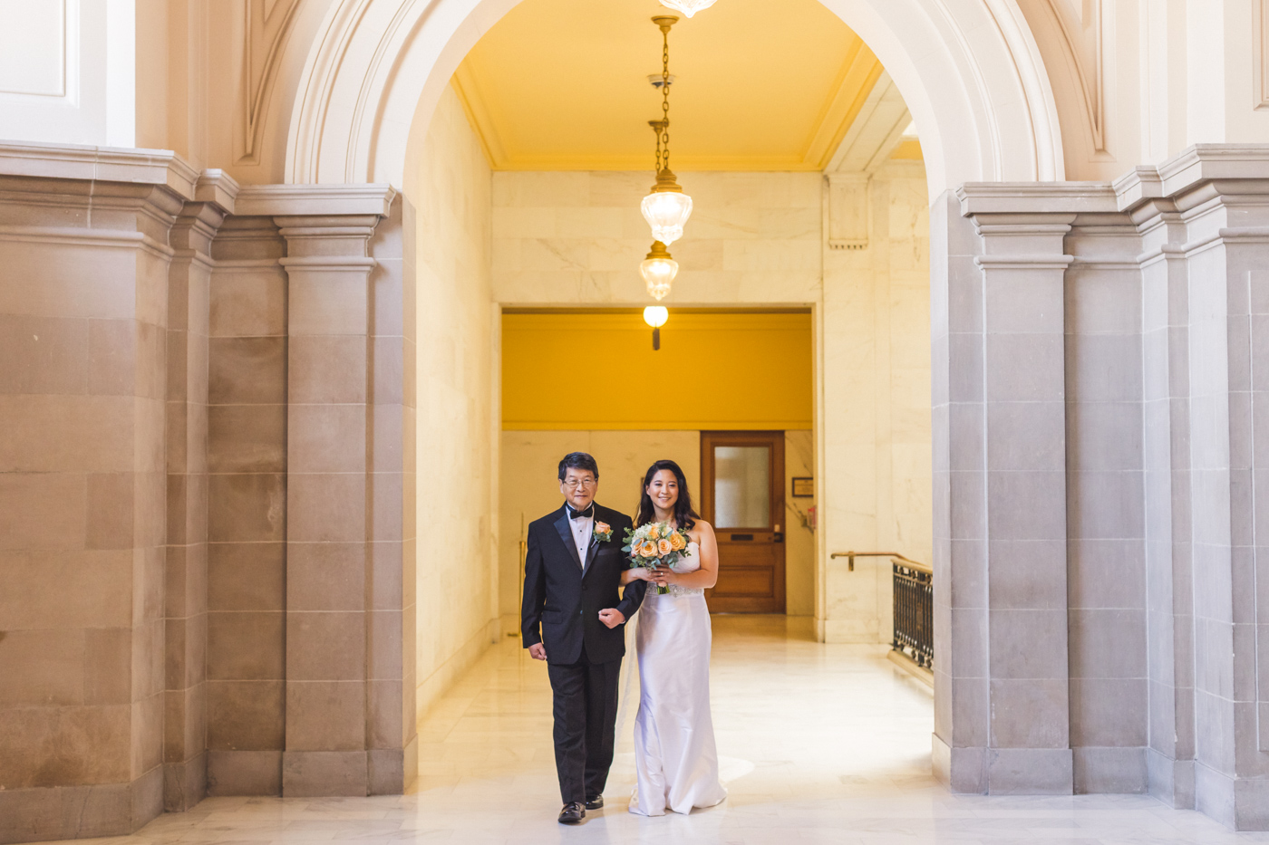 father-daughter-sf-city-hall-wedding-processional