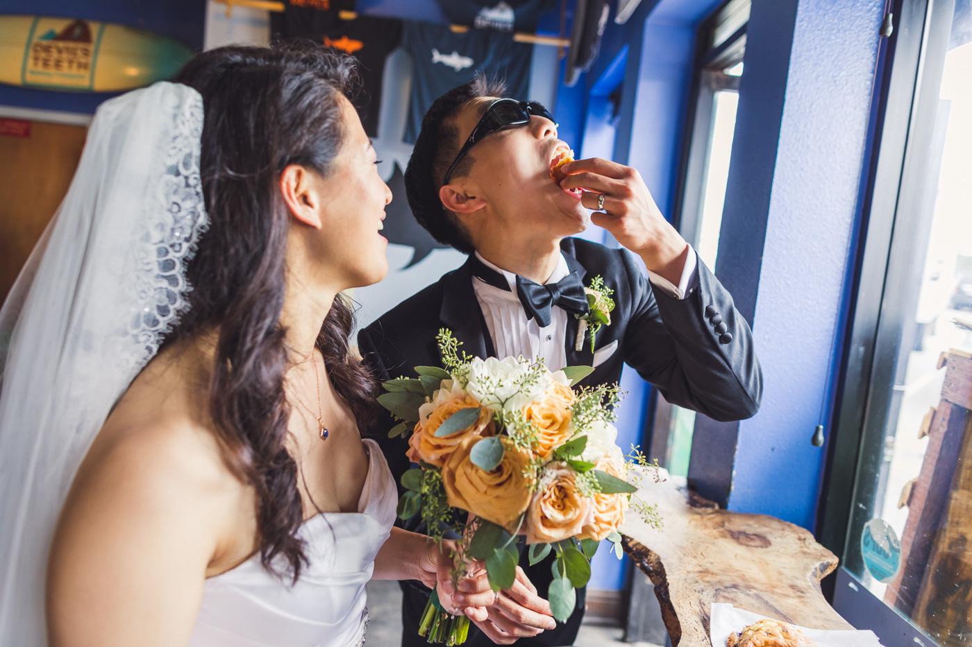 bride-and-groom-eating-devils-teeth-baking-company-treats